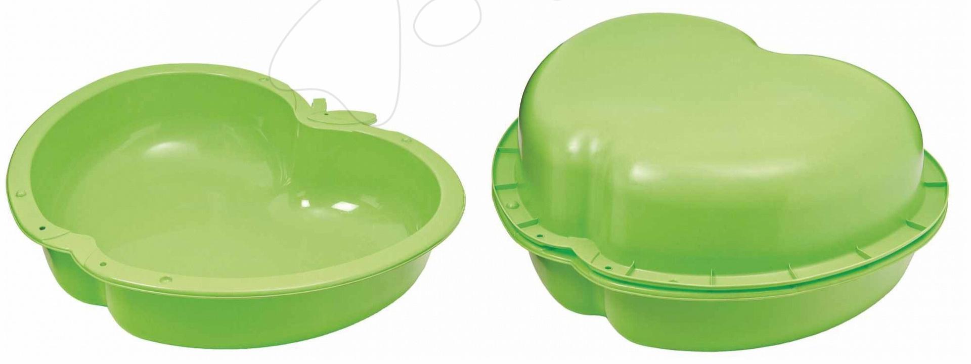 Pieskoviská pre deti - Set 2 pieskovísk Jablko Starplast objem 2x112 litrov zelené od 24 mes