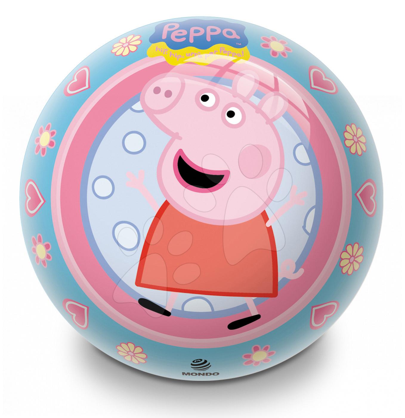 Pohádkový míč Prasátko Peppa Pig Mondo 14 cm pryžový