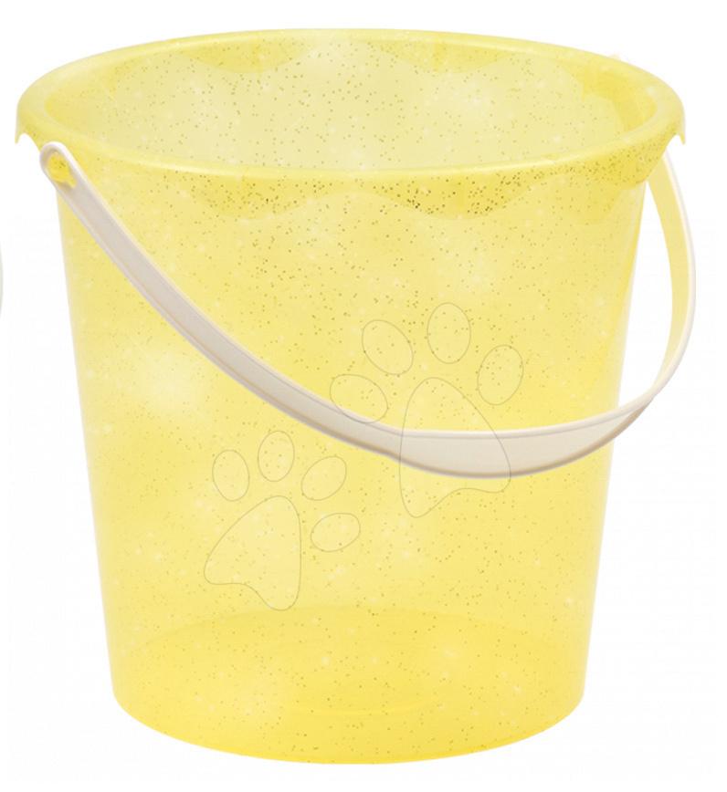 Kbelík do písku Écoiffier třpytivý výška 20 cm žlutý od 18 měsíců