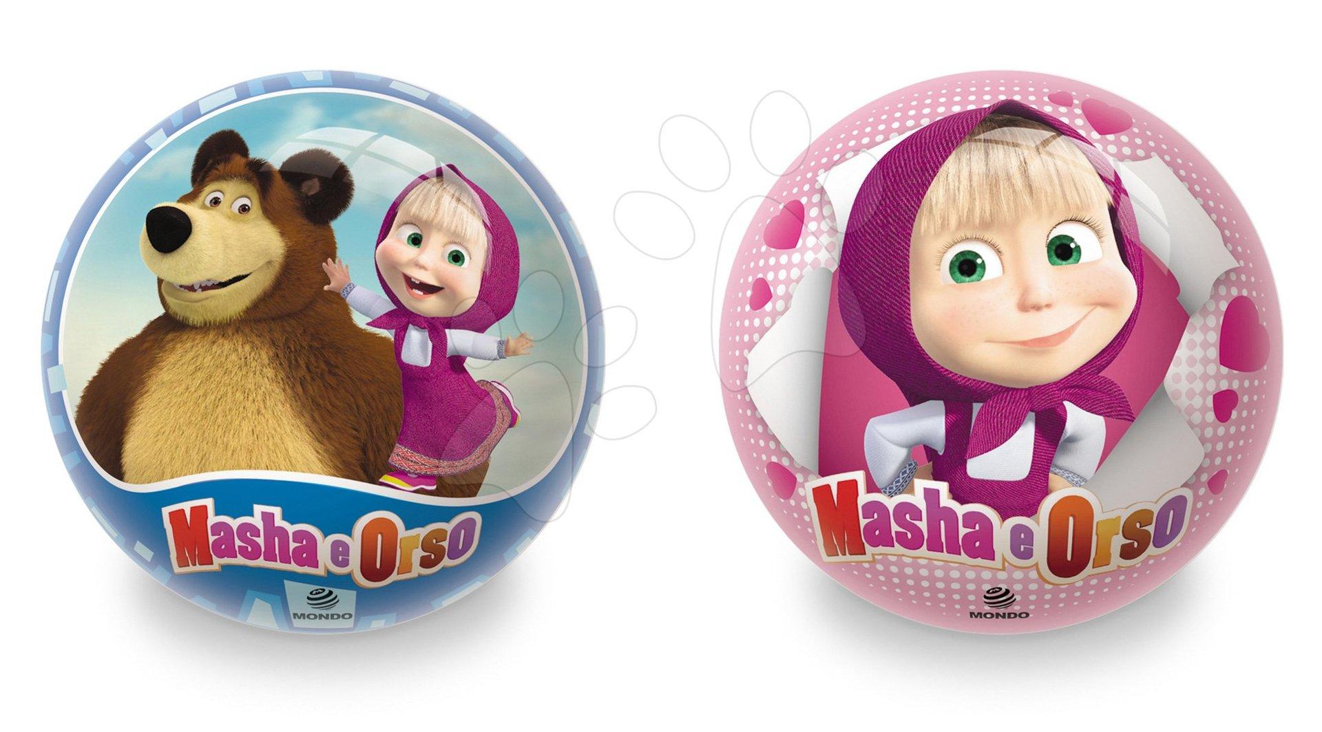 Rozprávkové lopty - Rozprávková lopta Máša a Medveď Mondo gumená 14 cm
