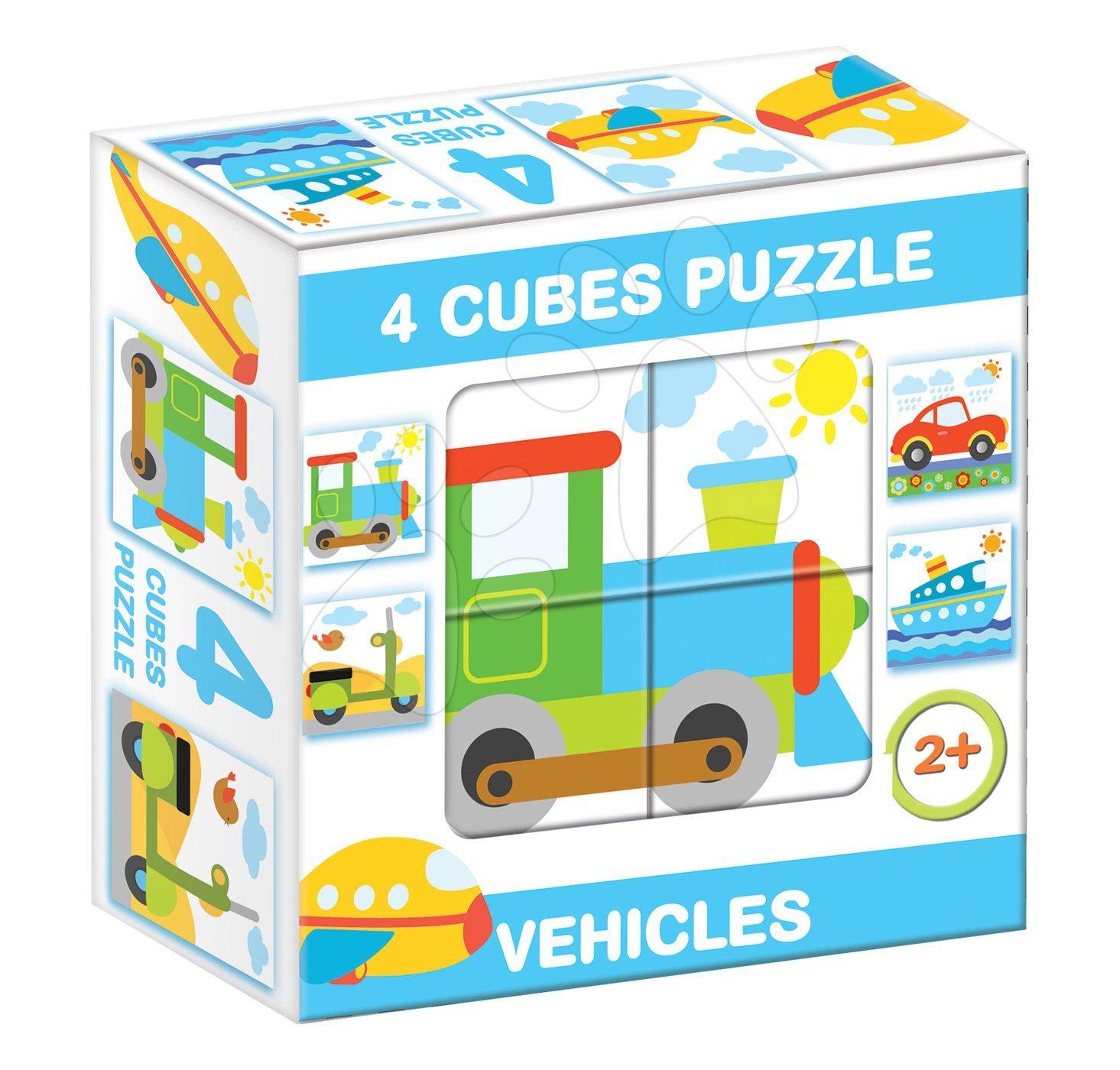 Rozprávkové kocky - Rozprávkové kocky Pracovné vozidlá Dohány 4 diely od 24 mes