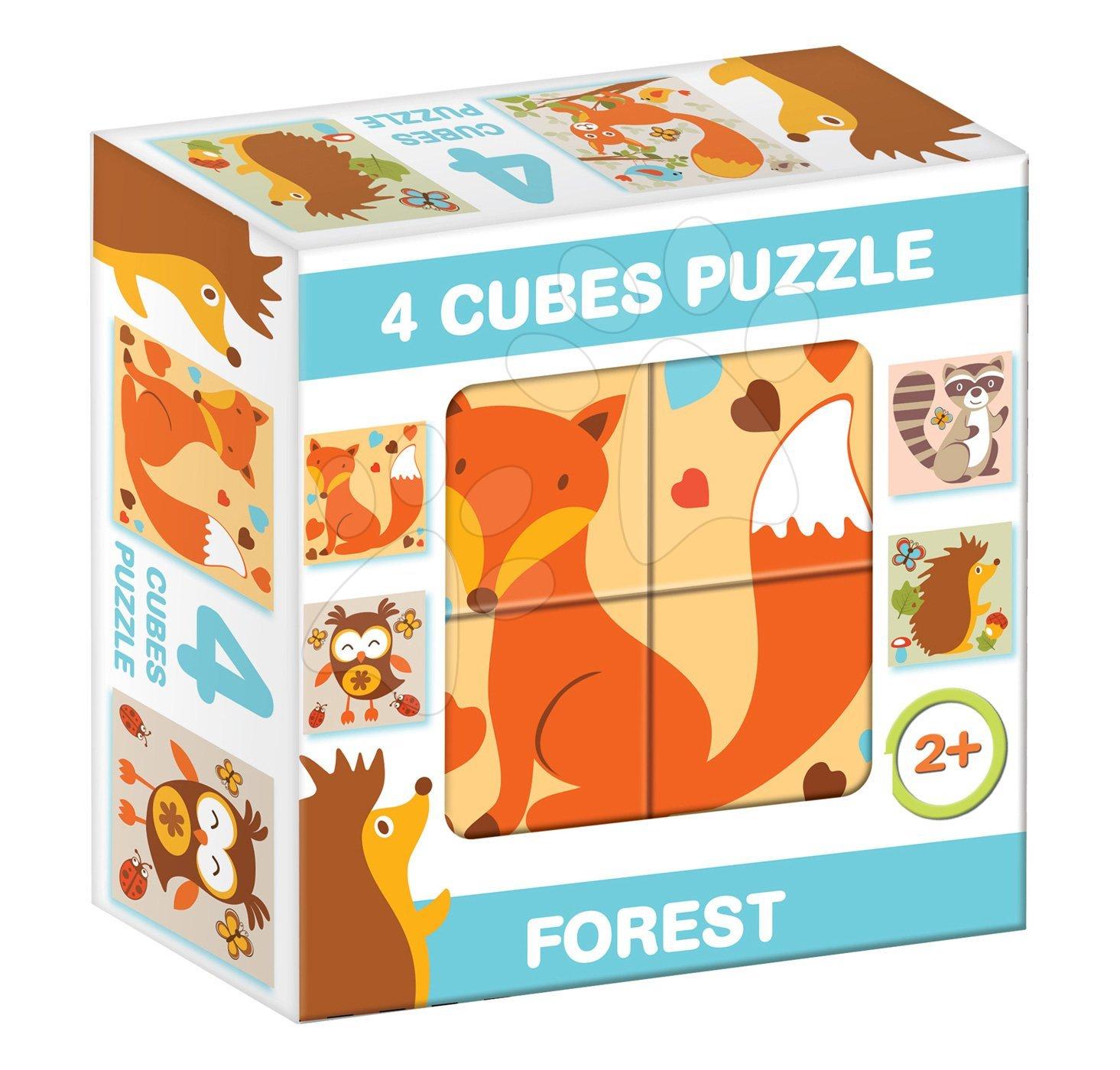 Rozprávkové kocky - Rozprávkové kocky Lesné zvieratká Dohány 4 diely od 24 mes
