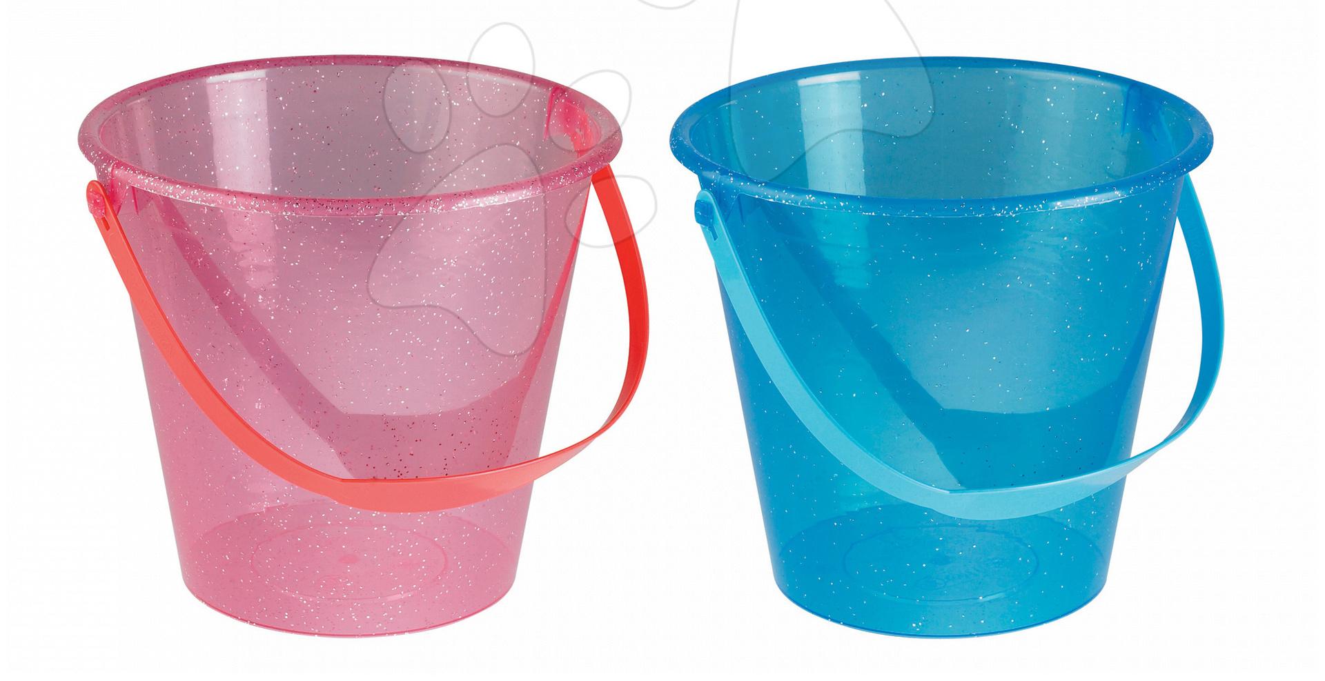Kbelíky do písku - Kbelík Écoiffier průsvitné perleťové růžové/modré od 18 měsíců