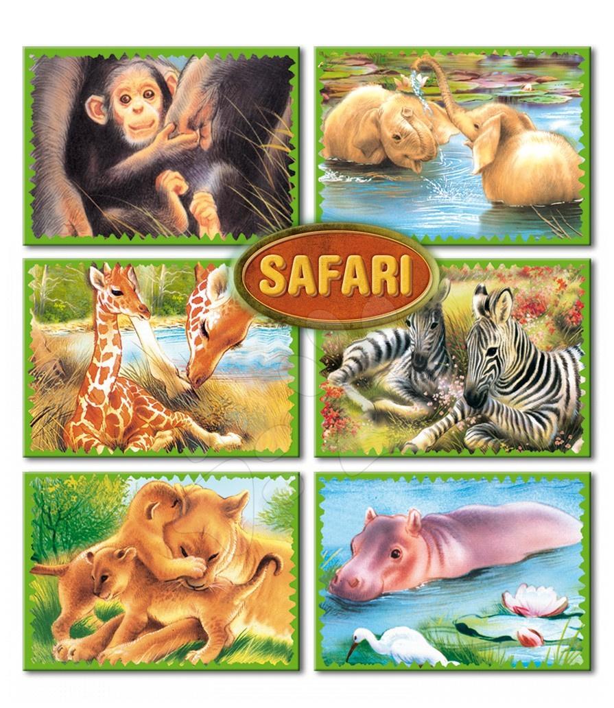 Otroške pravljične kocke - Otroške pravljične kocke Safari Dohány 6 delov