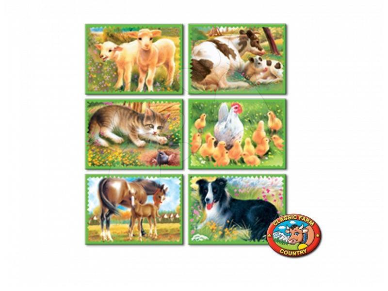 Otroške pravljične kocke - Pravljične kocke Kmetija Dohány 6 delov