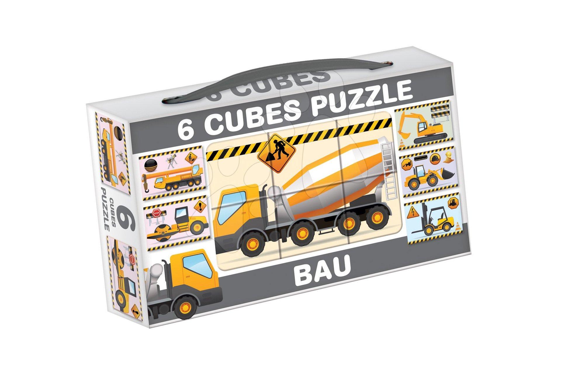 Rozprávkové kocky - Rozprávkové kocky Stavebné autá Dohány 6 dielov