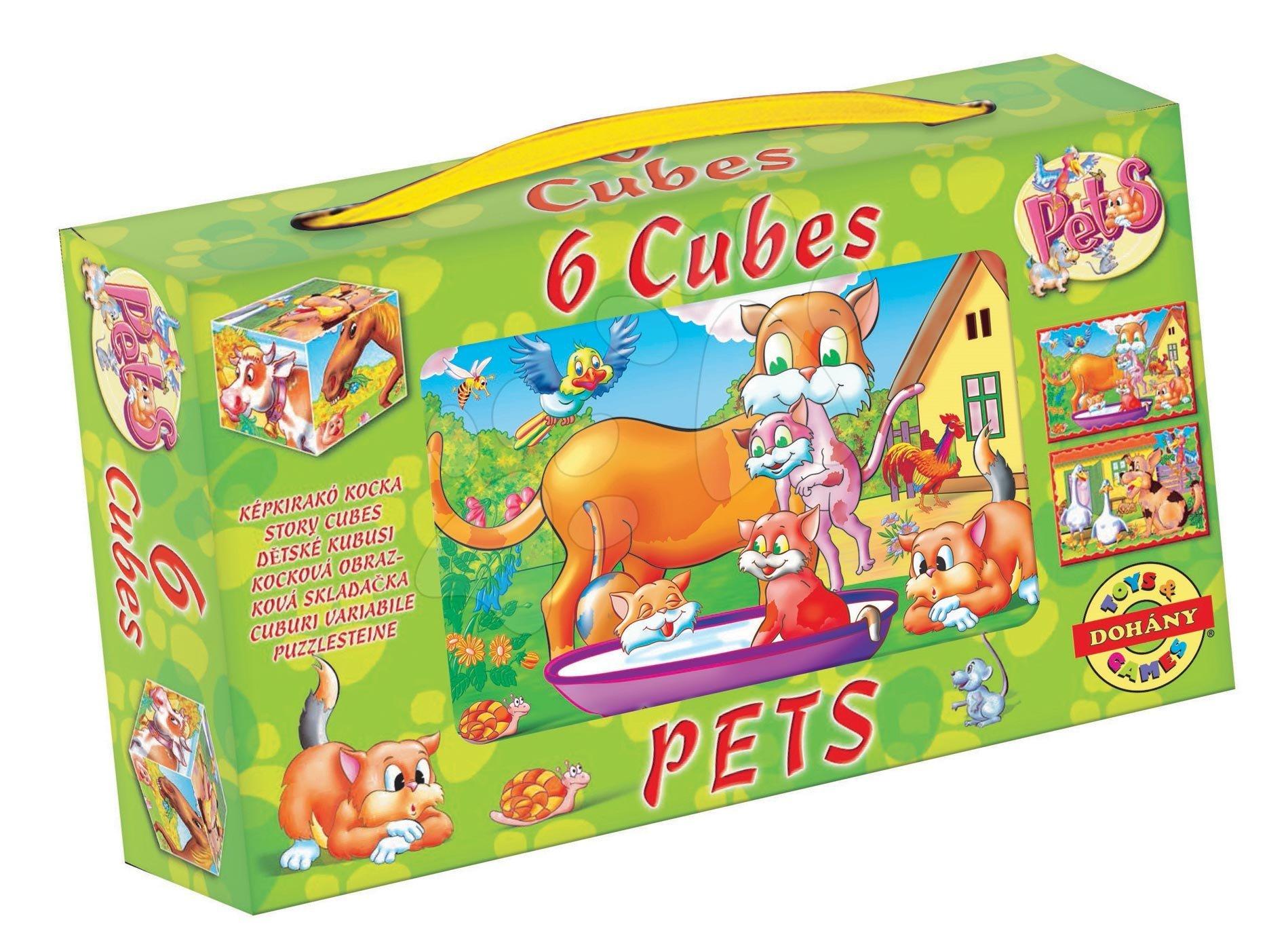 Rozprávkové kocky Zvieratká Dohány 6 dielov