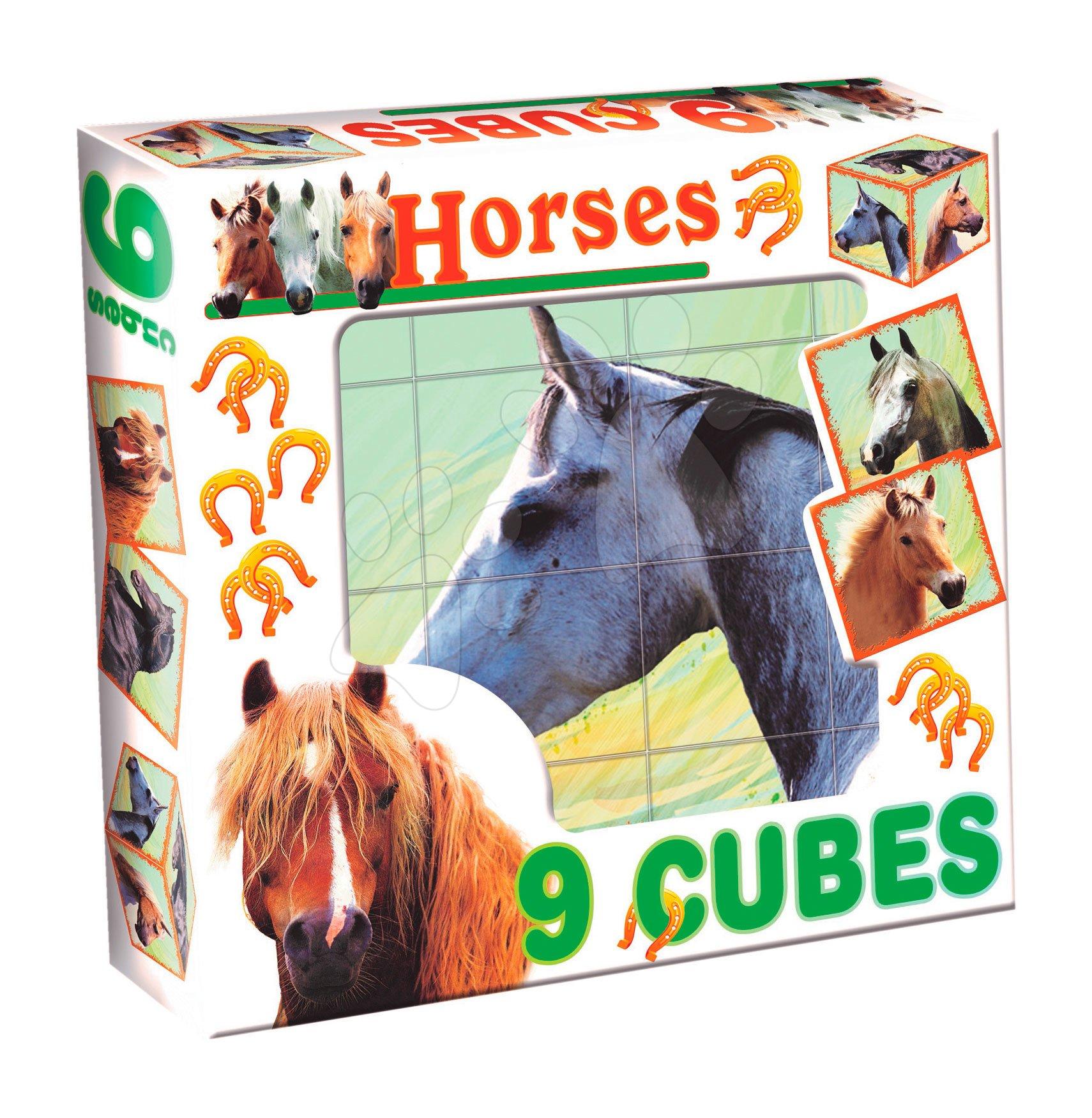 Pohádkové kostky - Pohádkové kostky koně Dohány 9 dílů