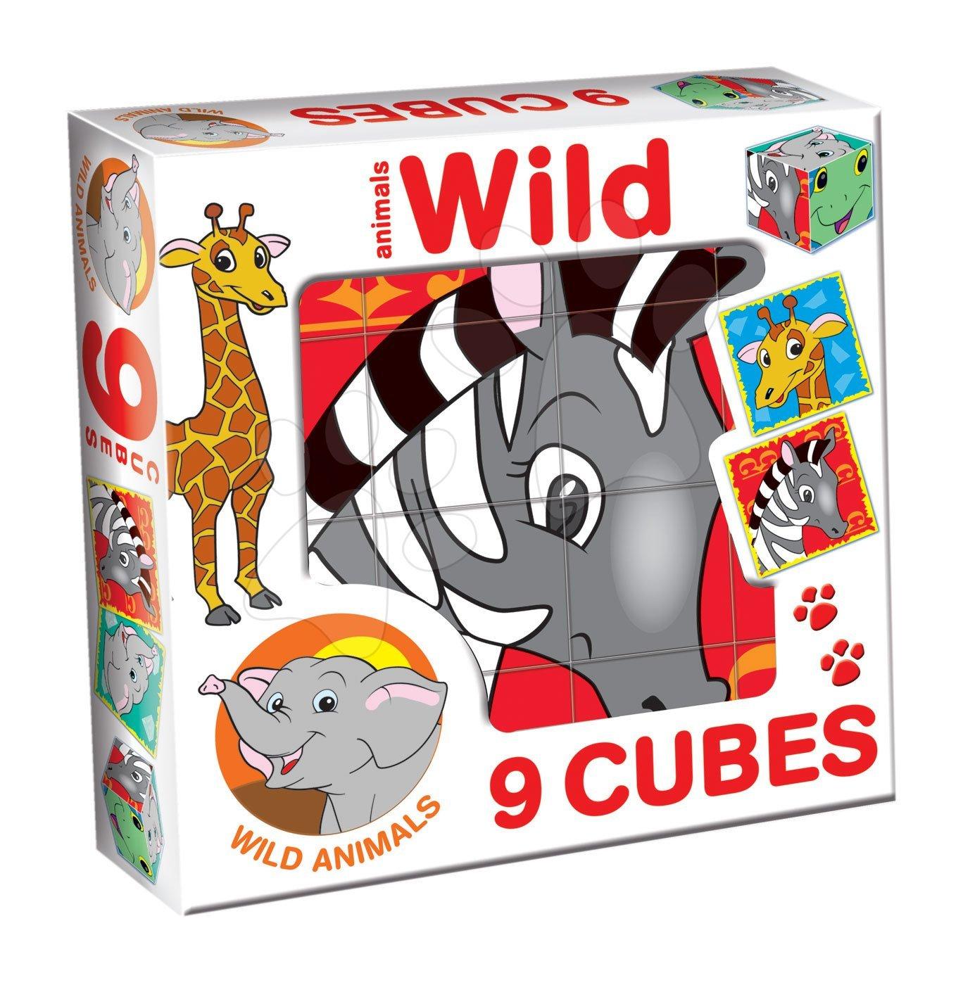 Otroške pravljične kocke - Pravljične kocke Safari živali Dohány 9 delov