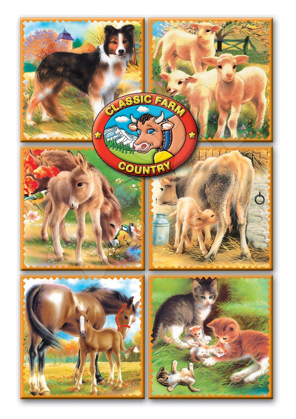 Rozprávkové kocky - Rozprávkové kocky Domáce zvieratá Dohány 9 dielov