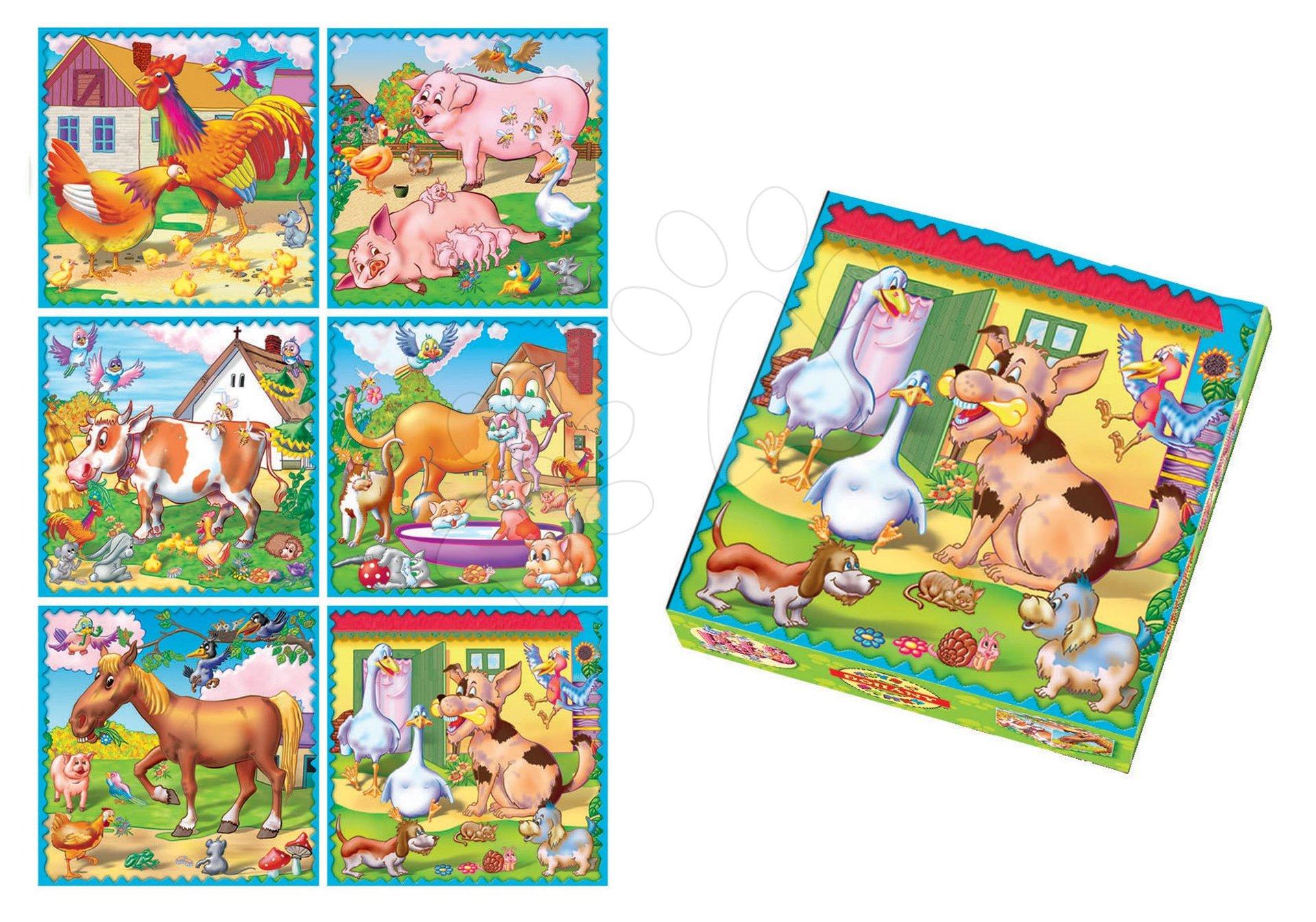 Rozprávkové kocky - Rozprávkové kocky Zvieratká na farme Dohány 9 dielov