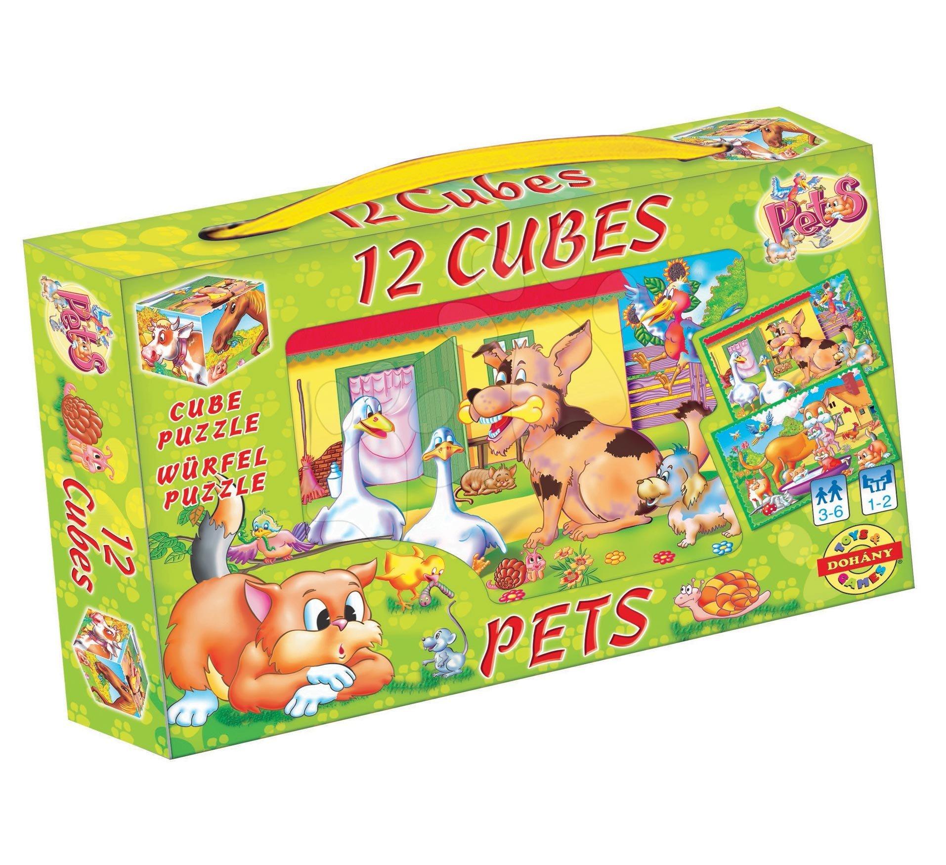 Pohádkové kostky Domácí zvířata Dohány 12 dílů