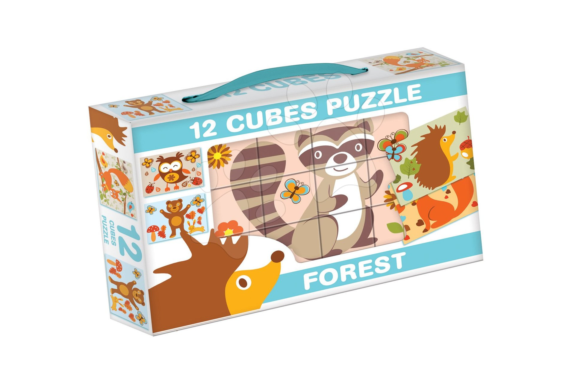 Pohádkové kostky Lesní zvířátka Dohány 12 dílů