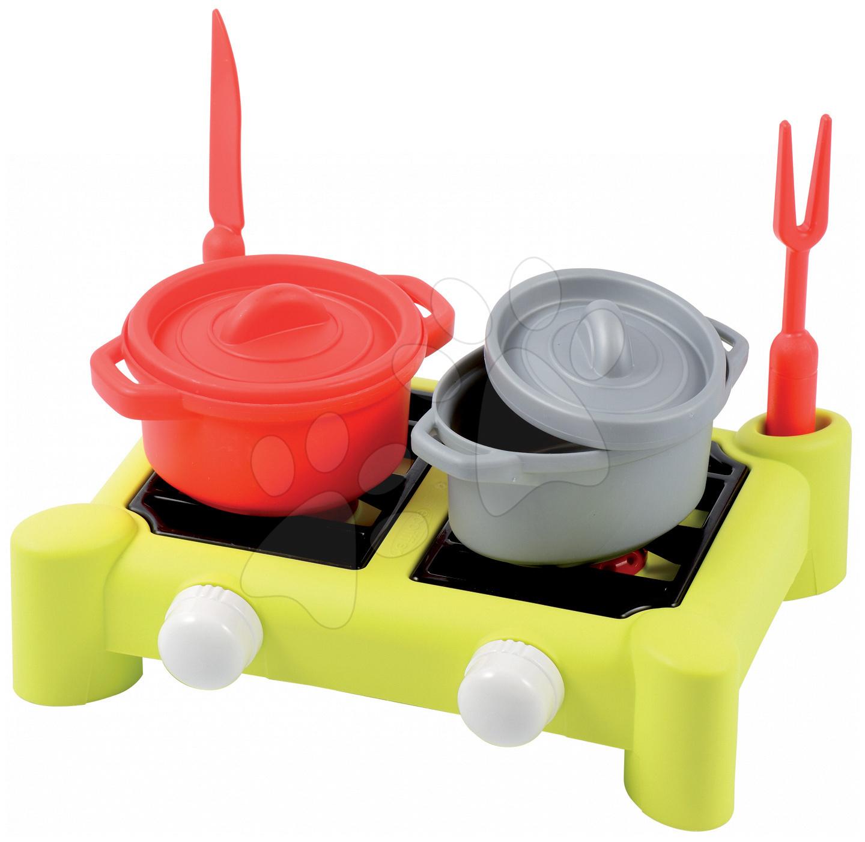 Écoiffier detský varič s hrncami Cheef Cook 602 zeleno-červeno-strieborný
