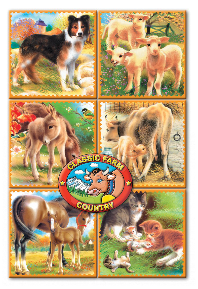 Rozprávkové kocky Farma Dohány 16 dielov