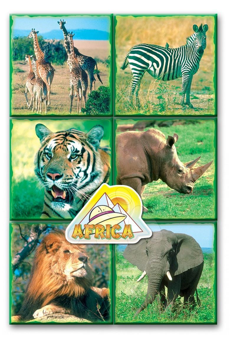 Pohádkové kostky Safari zvířátka Dohány 16 dílů