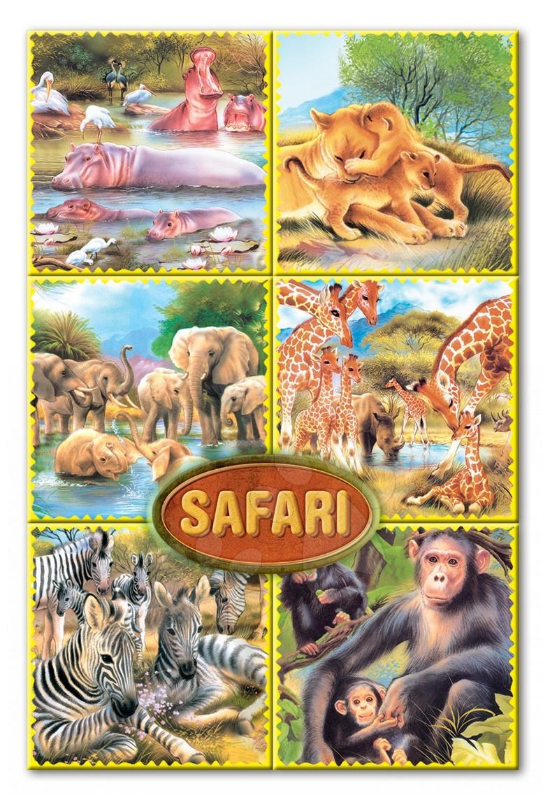 Otroške pravljične kocke - Pravljične kocke Safari Dohány 16 delov