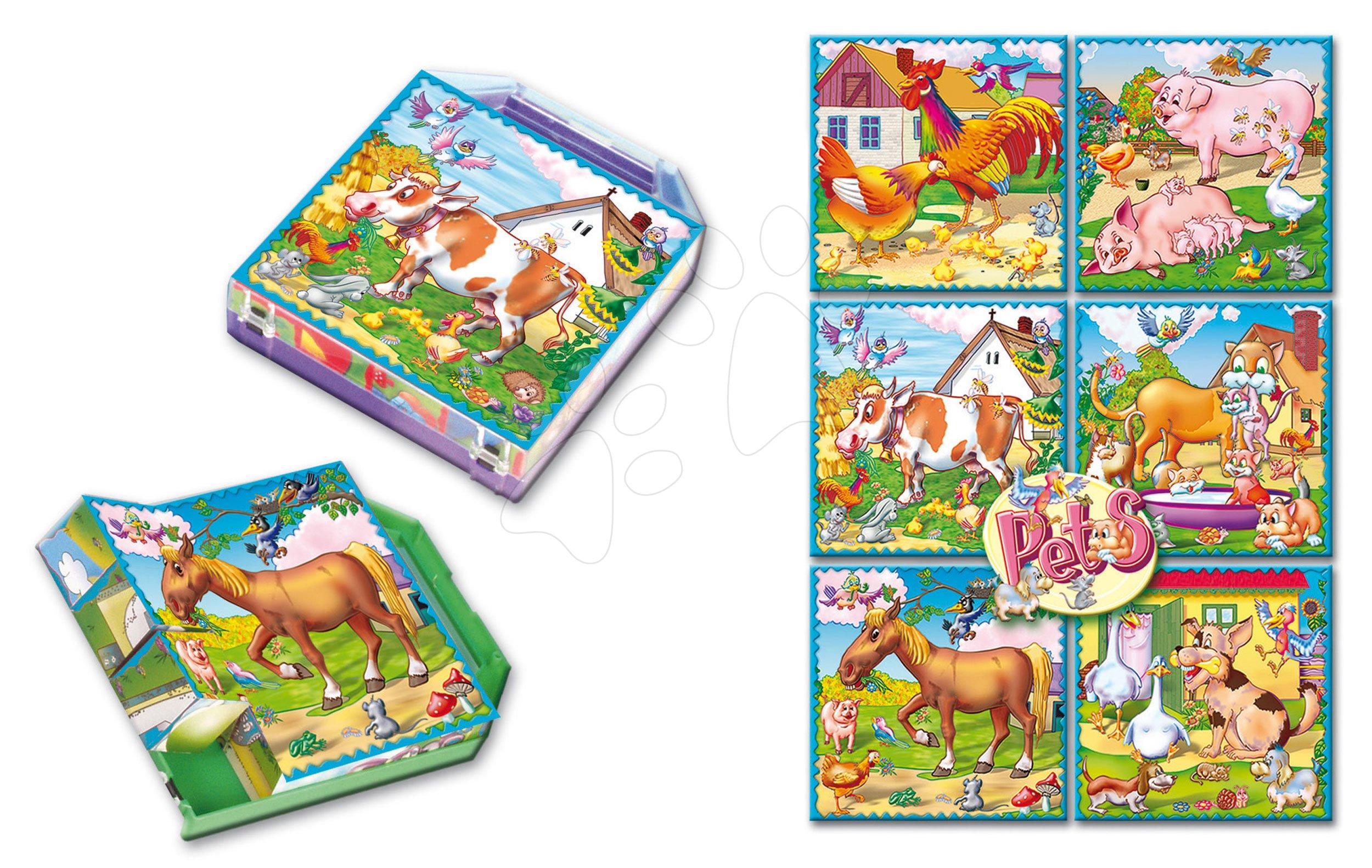 Pohádkové kostky - Pohádkové kostky Domácí zvířata Dohány 16 dílů