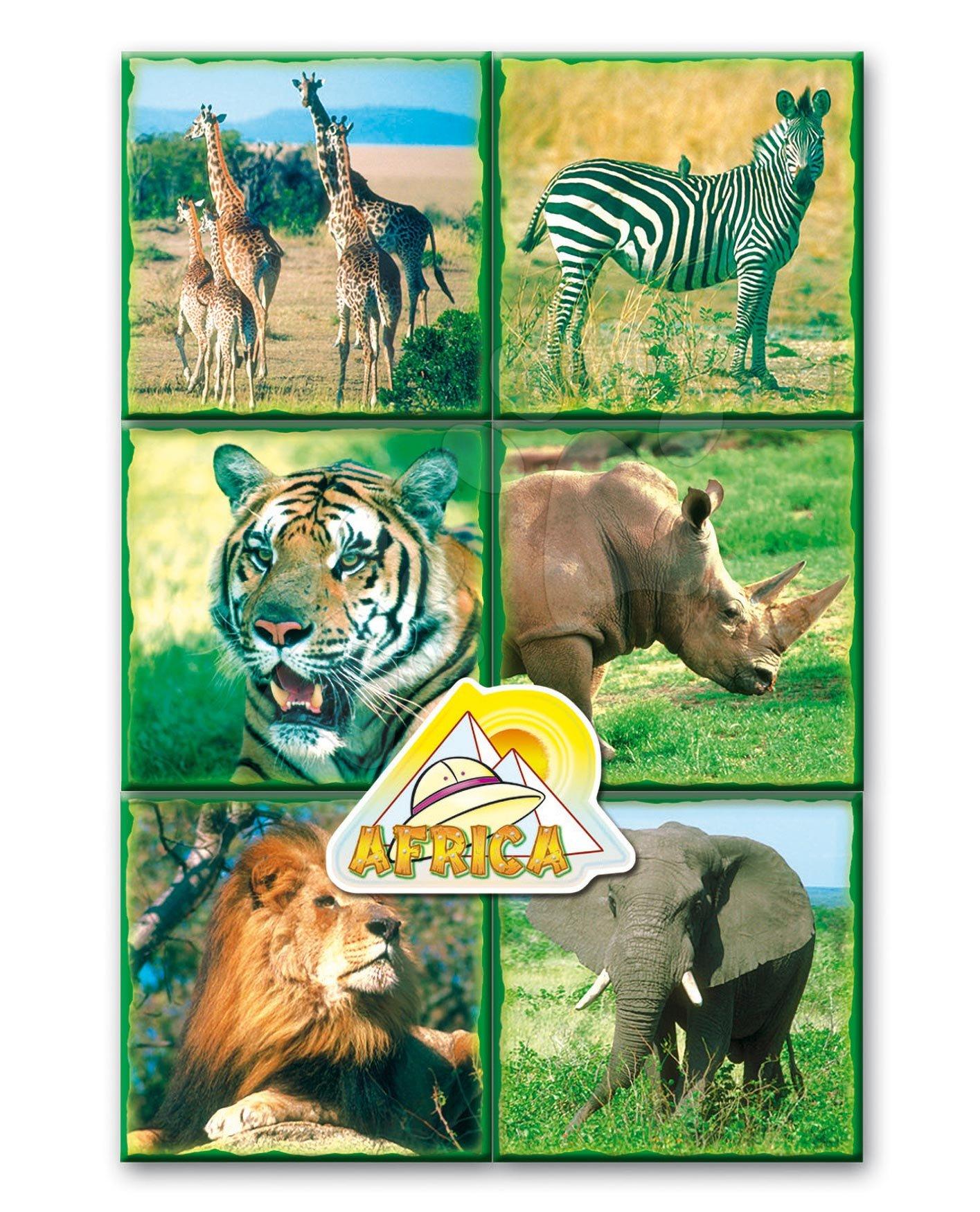 Pravljične kocke Safari živalce Dohány 16 delov