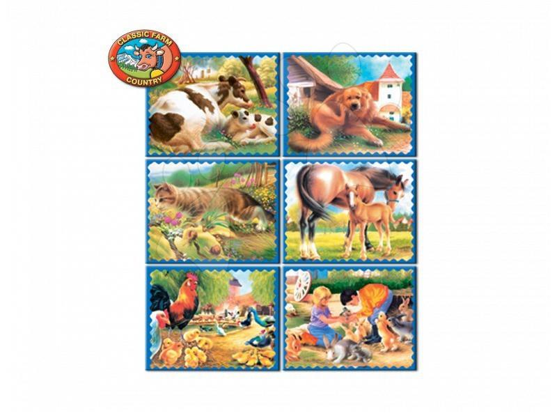 Cuburi mari cu poveşti Animăluţe de pe fermă Dohány 20 de piese