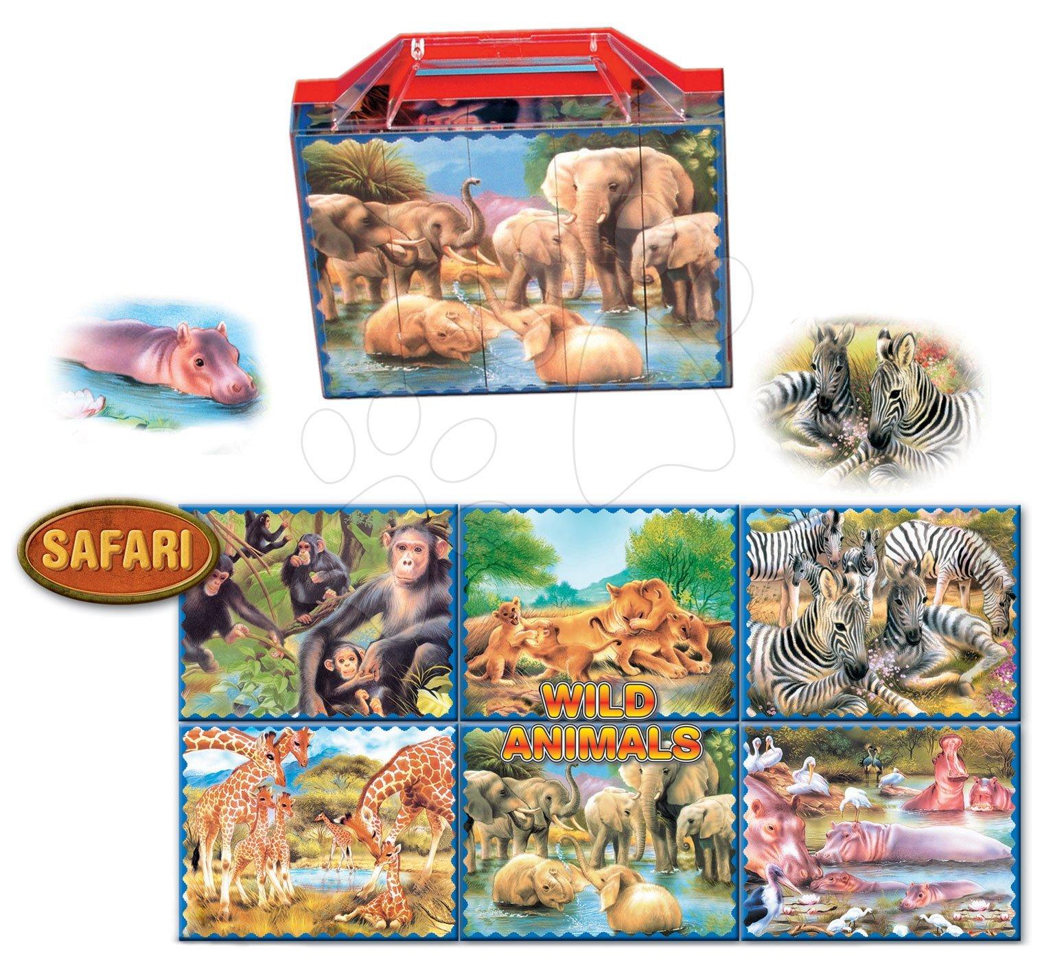 Rozprávkové kocky - Veľké rozprávkové kocky Safari Dohány 20 dielov