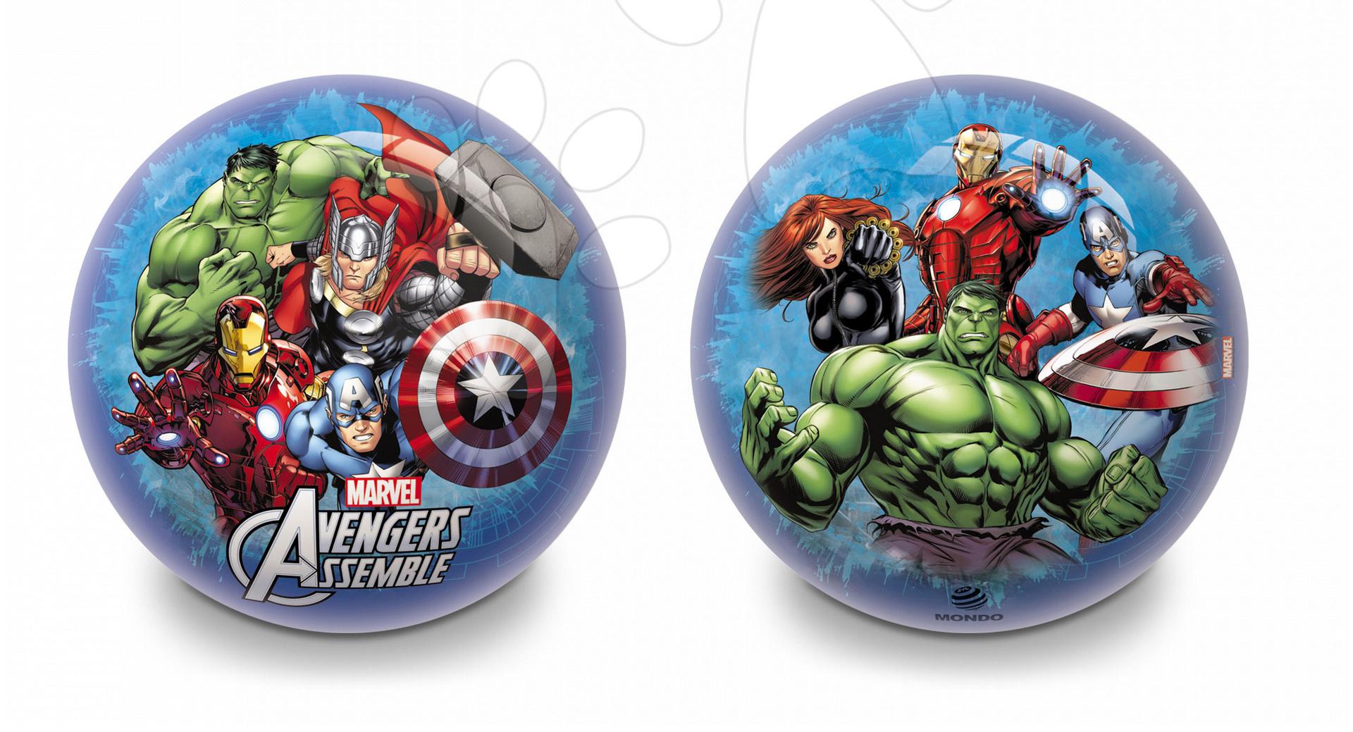 Lopte s motivima iz crtića - MONDO 6040 gumová rozprávková lopta AVENGERS 23 cm od 3 rokov