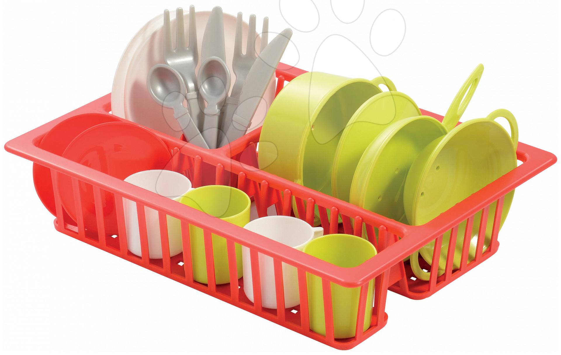 Écoiffier detská malá sušička na riad Cheef Cook 606-1 červeno-zeleno-strieborná