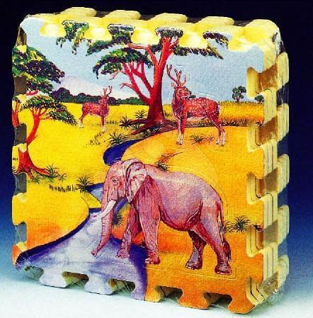 Puzzle iz pene - Puzzle iz pene Pop Out Animals Lee Chyun 6 delov 30*30*1,4 cm