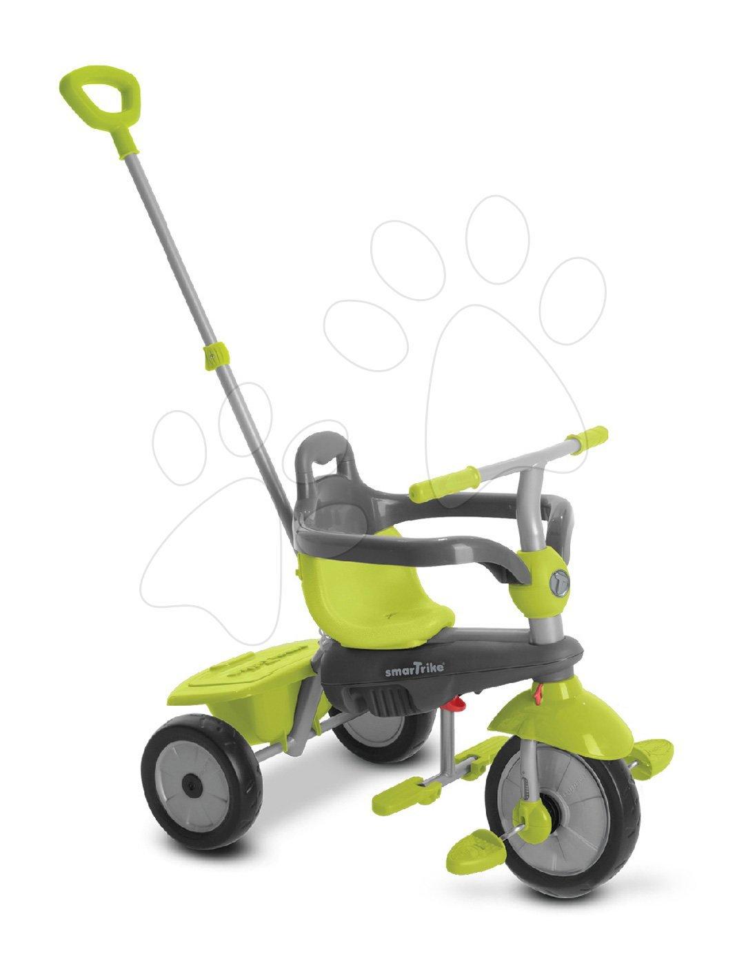 Trojkolka Breeze Touch Steering 3v1 smarTrike s tlmičom a voľnobehom šedo-zelená od 10 mesiacov