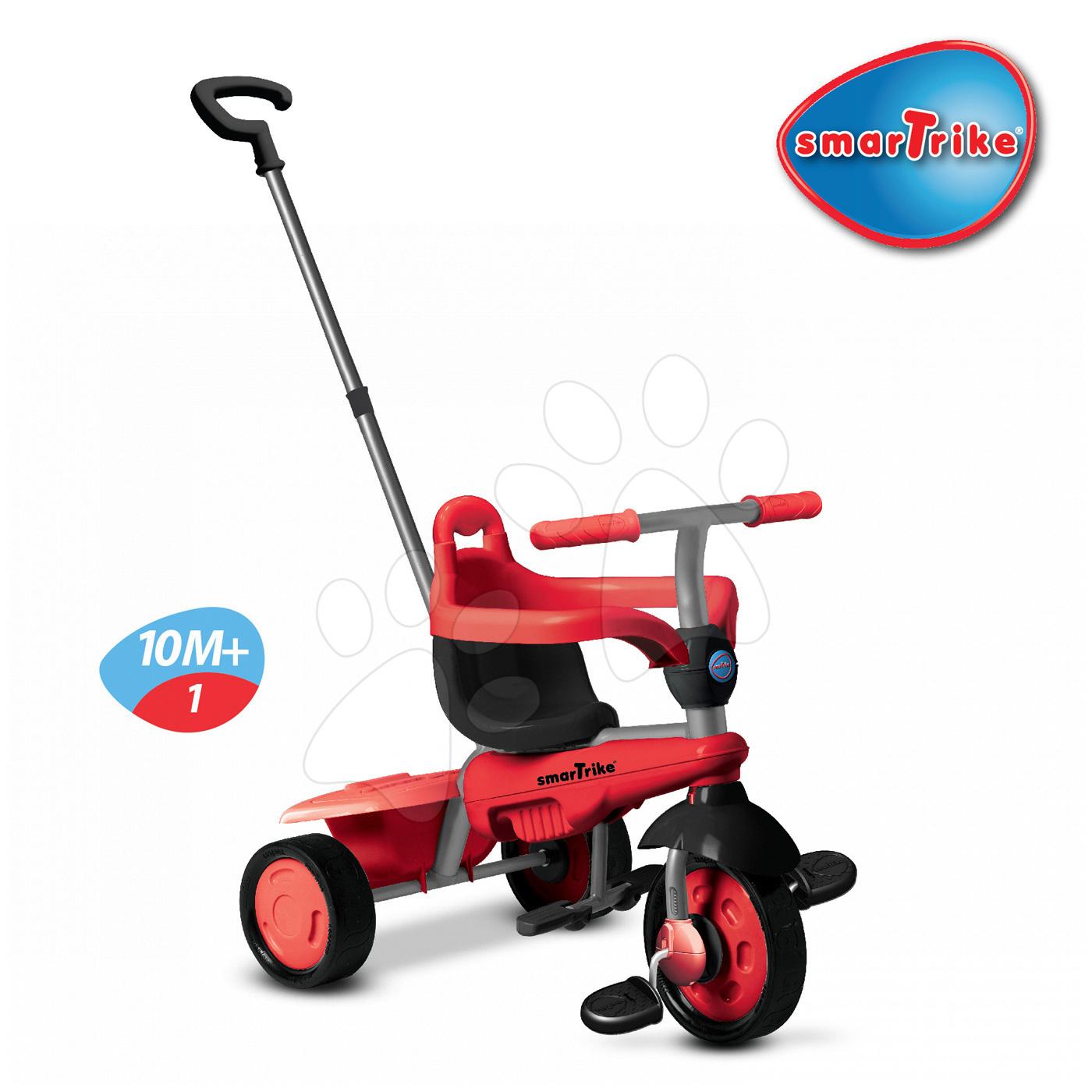 Trojkolky od 10 mesiacov - Trojkolka Breeze Touch Steering smarTrike červeno-čierna od 10 mes