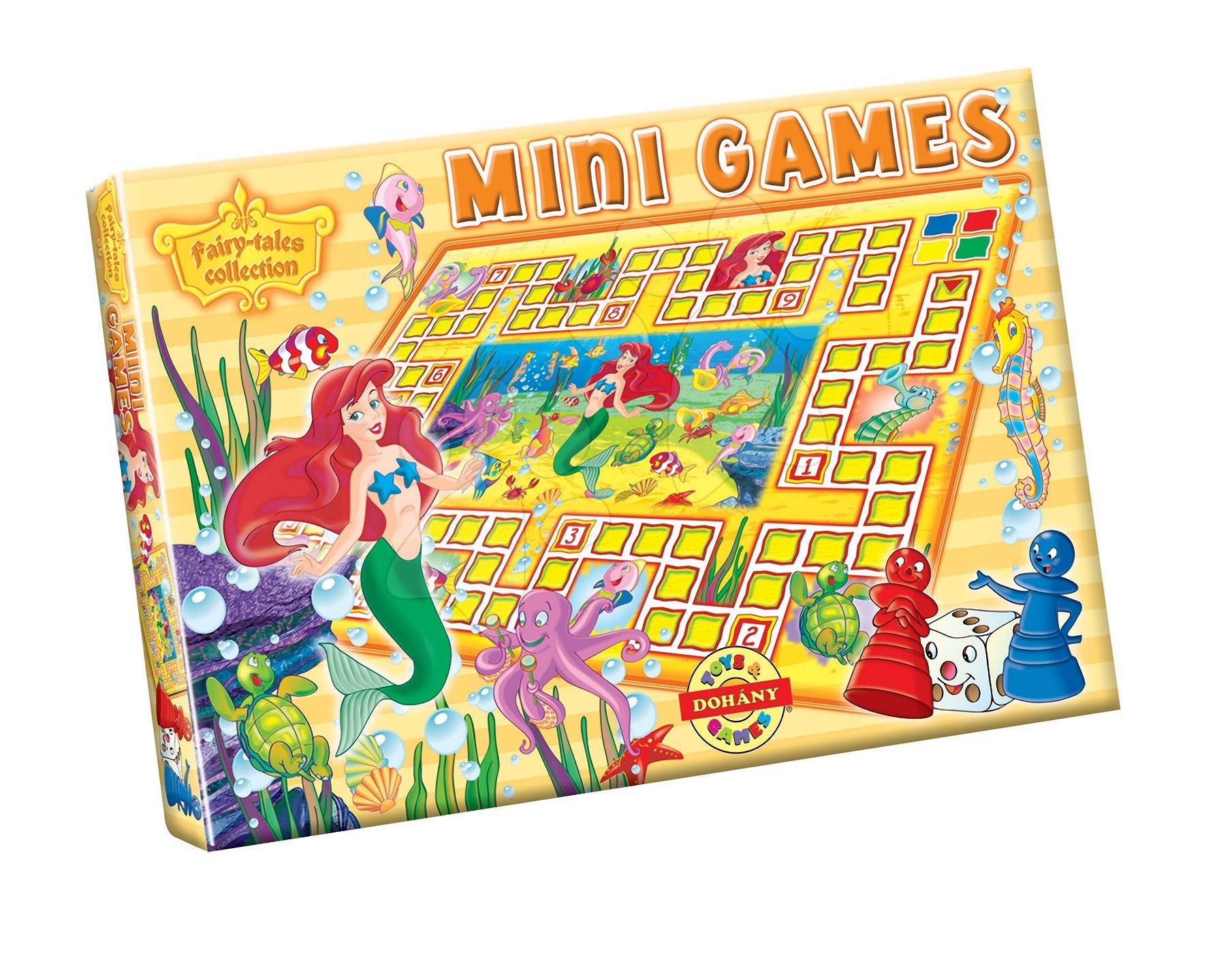 Společenská hra Malá mořská víla Dohány hrací podložka, figurky a kostka