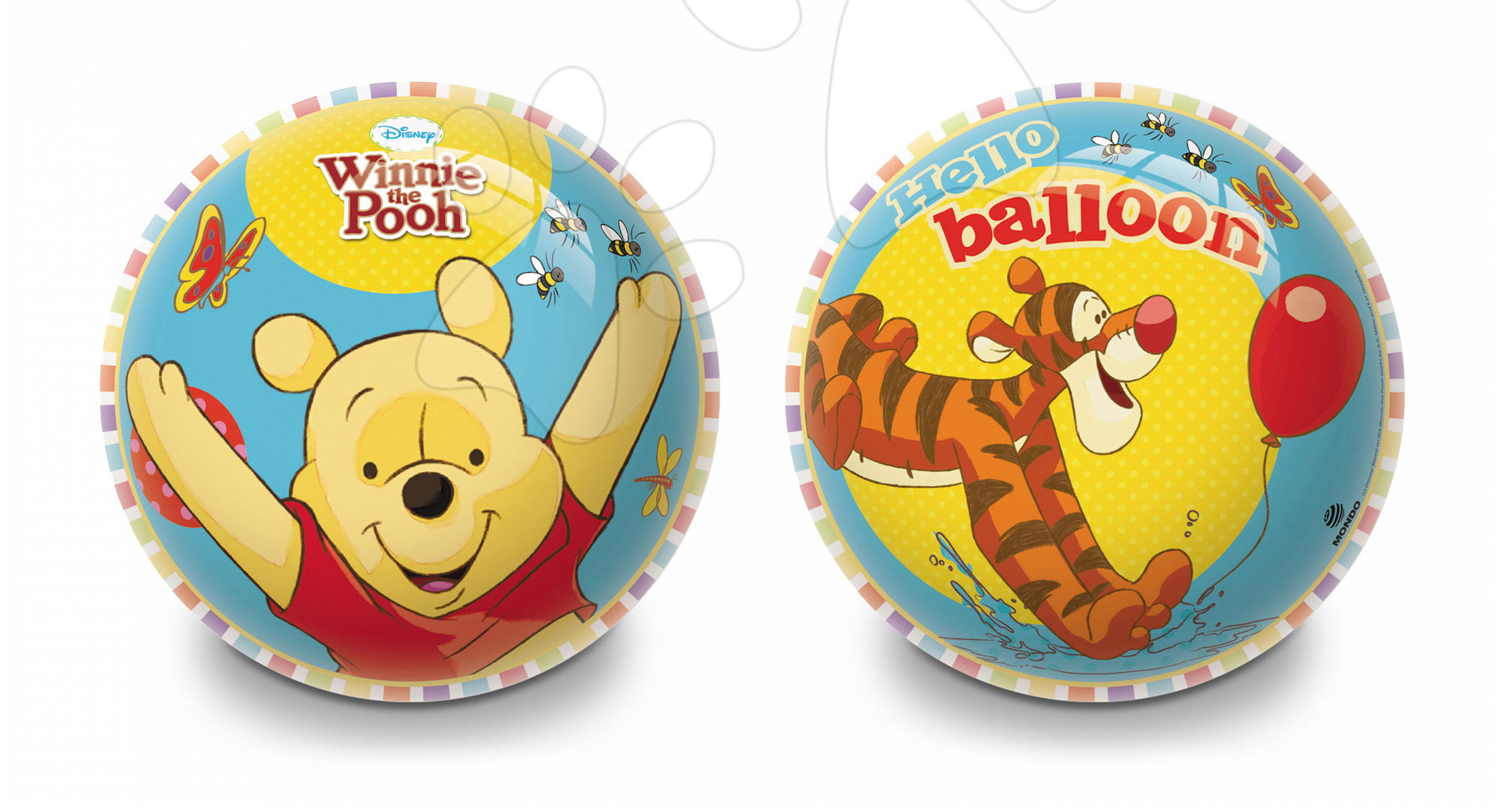 Rozprávkové lopty - Rozprávková lopta Macko Pú Mondo gumená 23 cm