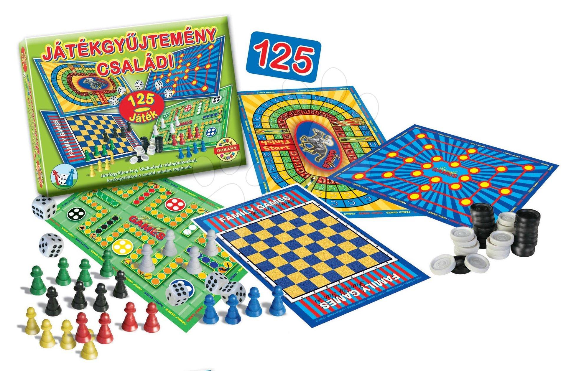 Sada spoločenských hier pre rodinu 125 druhov Dohány