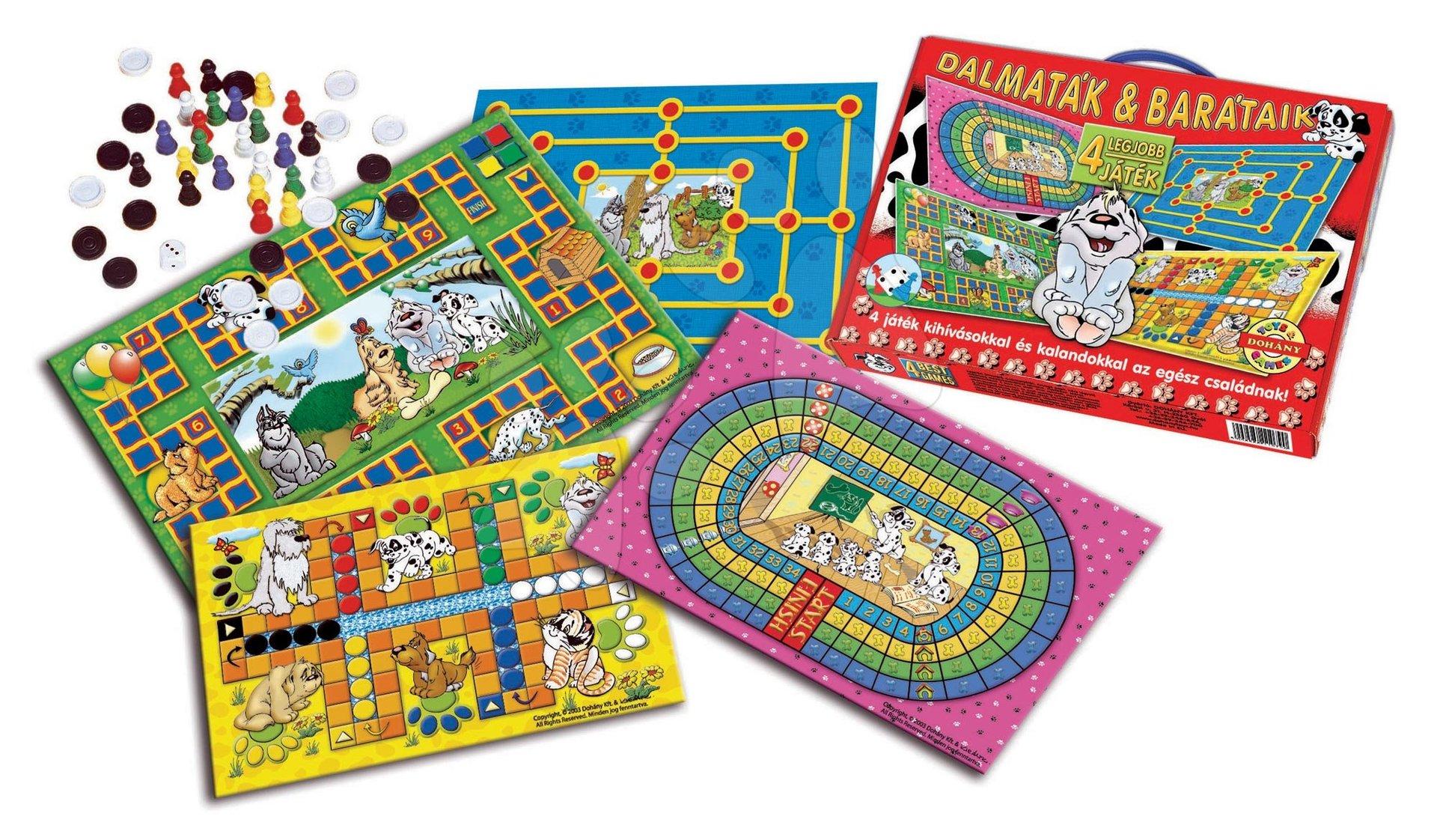 Komplet h družabnih iger 101 Dalmatinec 4v1 Dohány