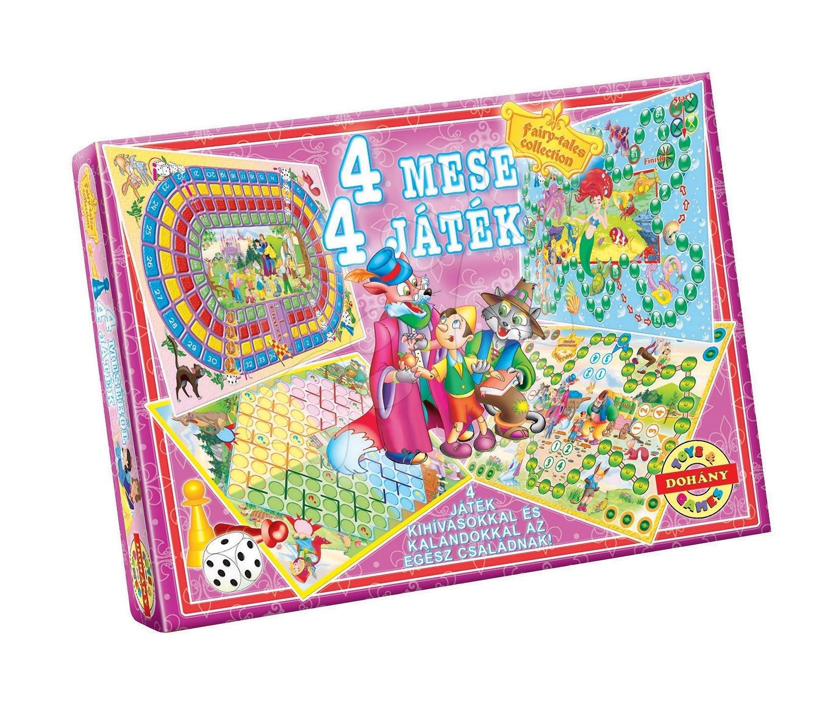 Spoločenské hry pre deti - Sada spoločenských hier 4 rozprávky Dohány