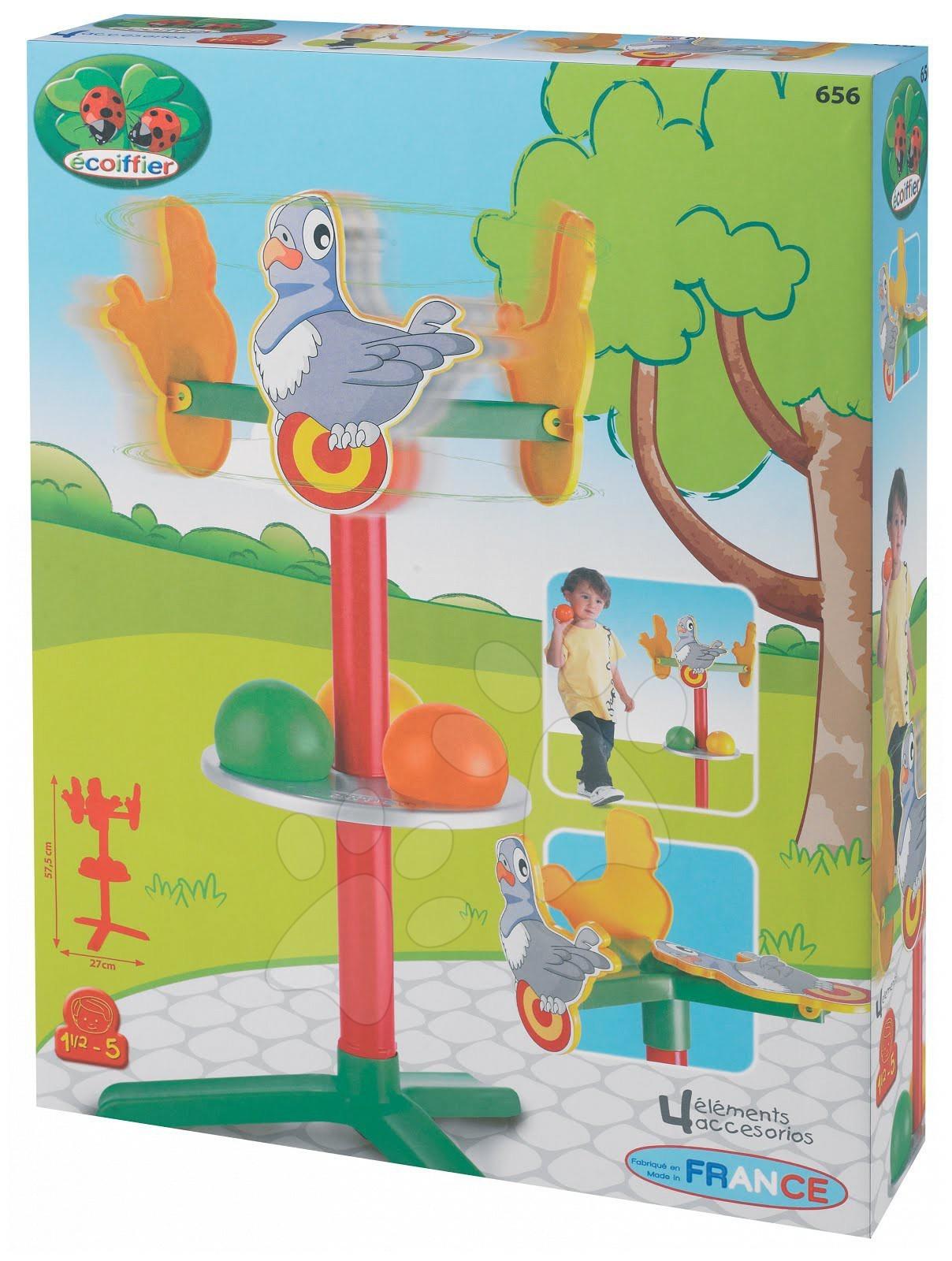 Sportovní hry pro nejmenší - Pták s terčem na stojanu Picnic Écoiffier (výška 57,5 cm) od 18 měsíců