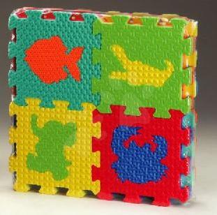 Pěnové puzzle - Pěnové puzzle Animals – Zvířátka Lee 16 dílů 15*15*1,2 cm