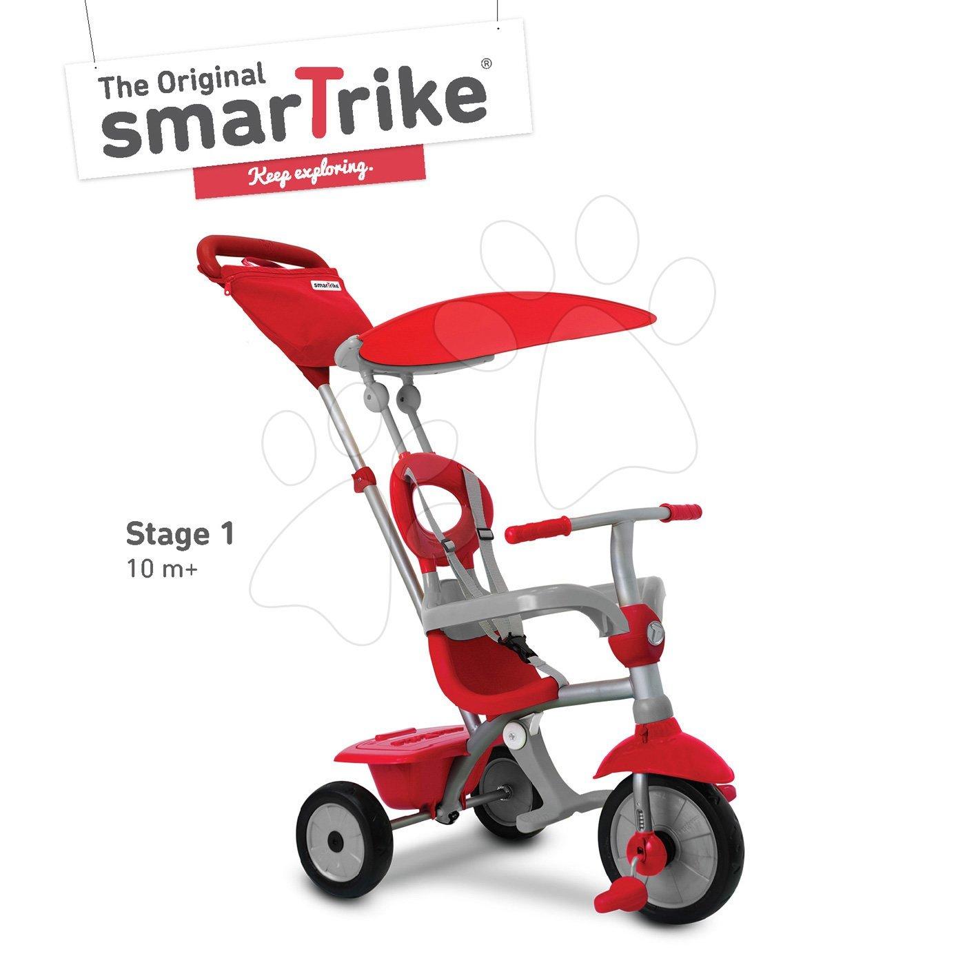 Trojkolka Zip Plus 4in1 smarTrike TouchSteering EVA gumové kolesá červená od 10 mes