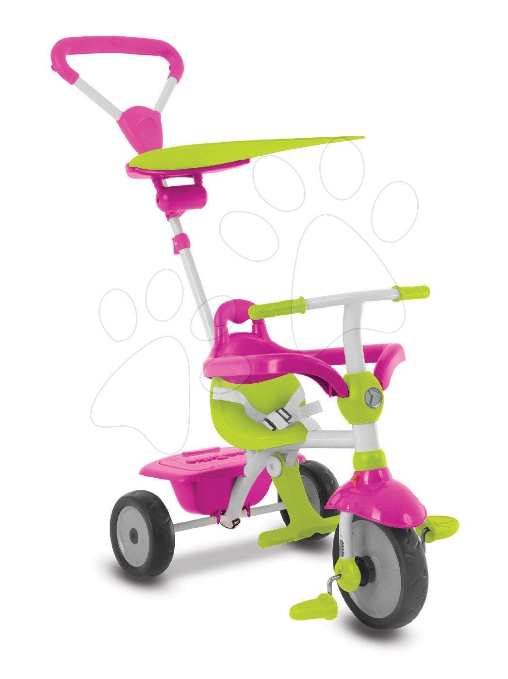 Tříkolka Zip Plus 3v1 Touch Steering smarTrike růžová, EVA gumová kola od 10 měsíců