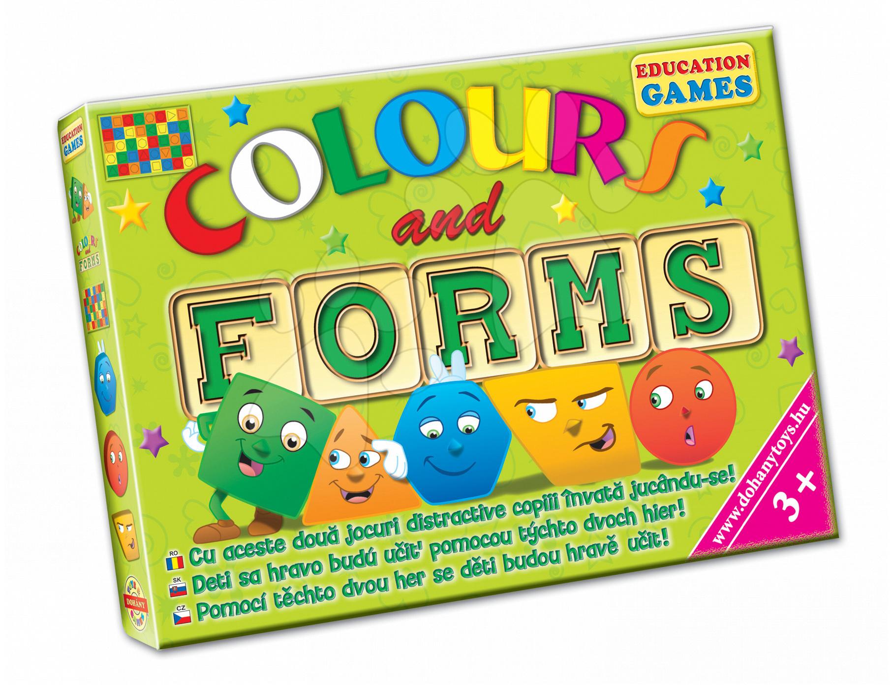 Společenská hra Barvy a tvary Dohány 1 hrací plocha od 3 let