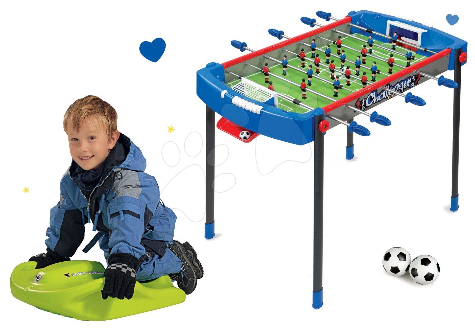 Smoby set futbalový stôl Challenger a boby Snow Speedy 620200-5