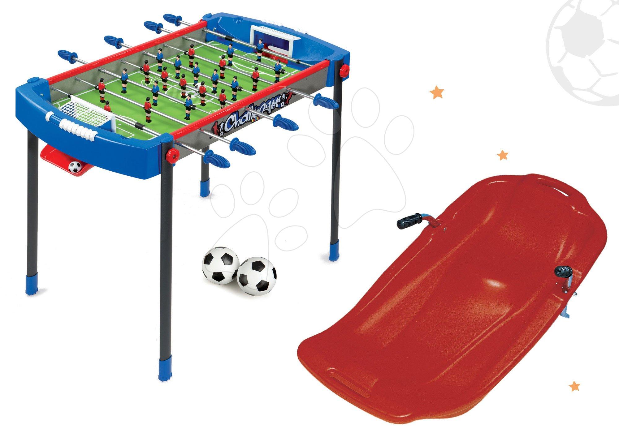 Smoby set futbalový stôl Challenger a boby Snow Carver s carvingovým profilom 620200-6