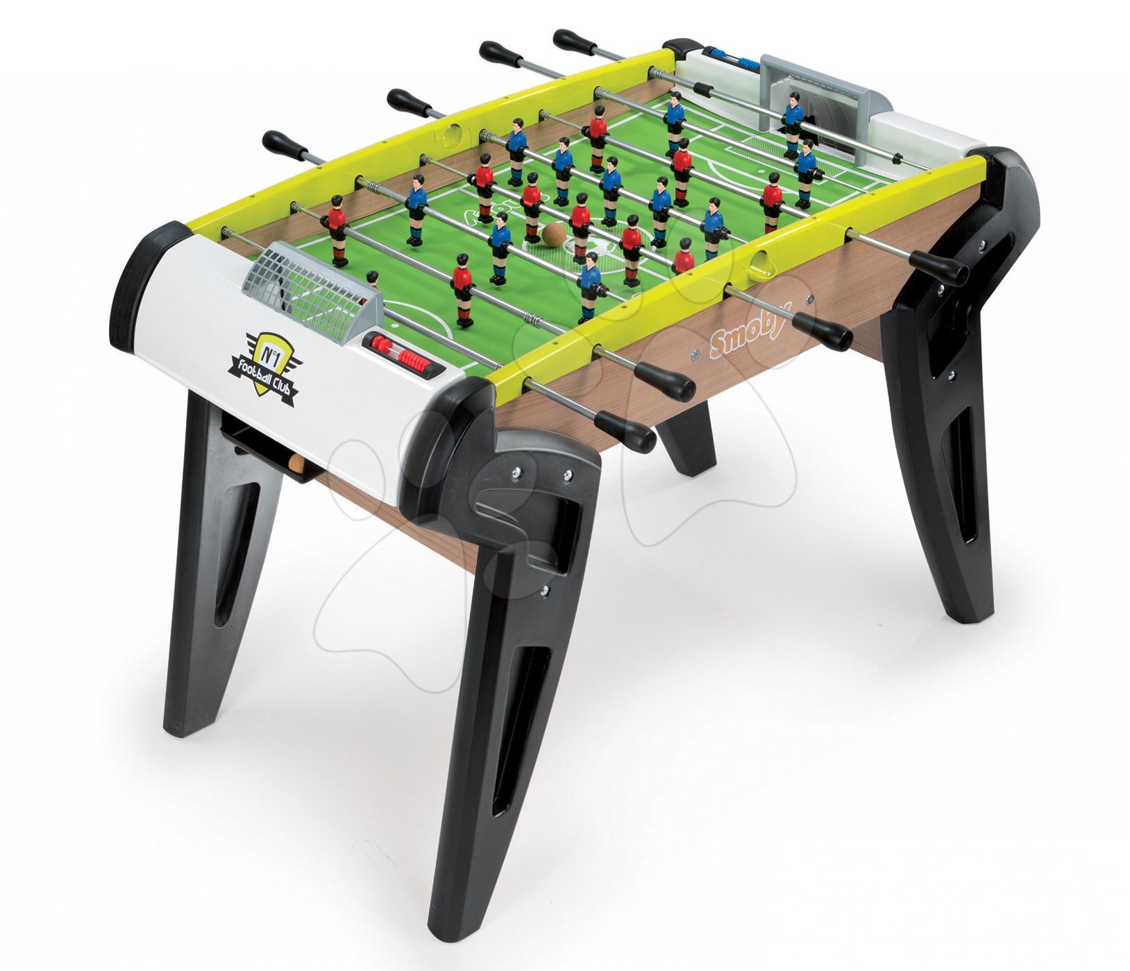 Stolný futbal - Drevený futbalový stôl Nr.1 Smoby s 2 loptičkami od 8 rokov