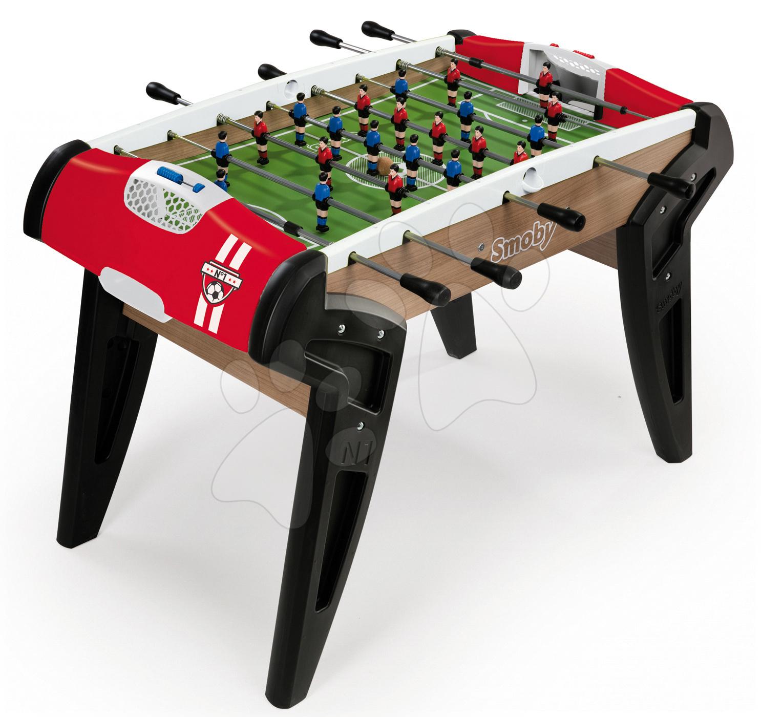 Stolný futbal - Drevený futbalový stôl BBF Nr. 1 Smoby s 2 korkovými loptičkami od 8 rokov