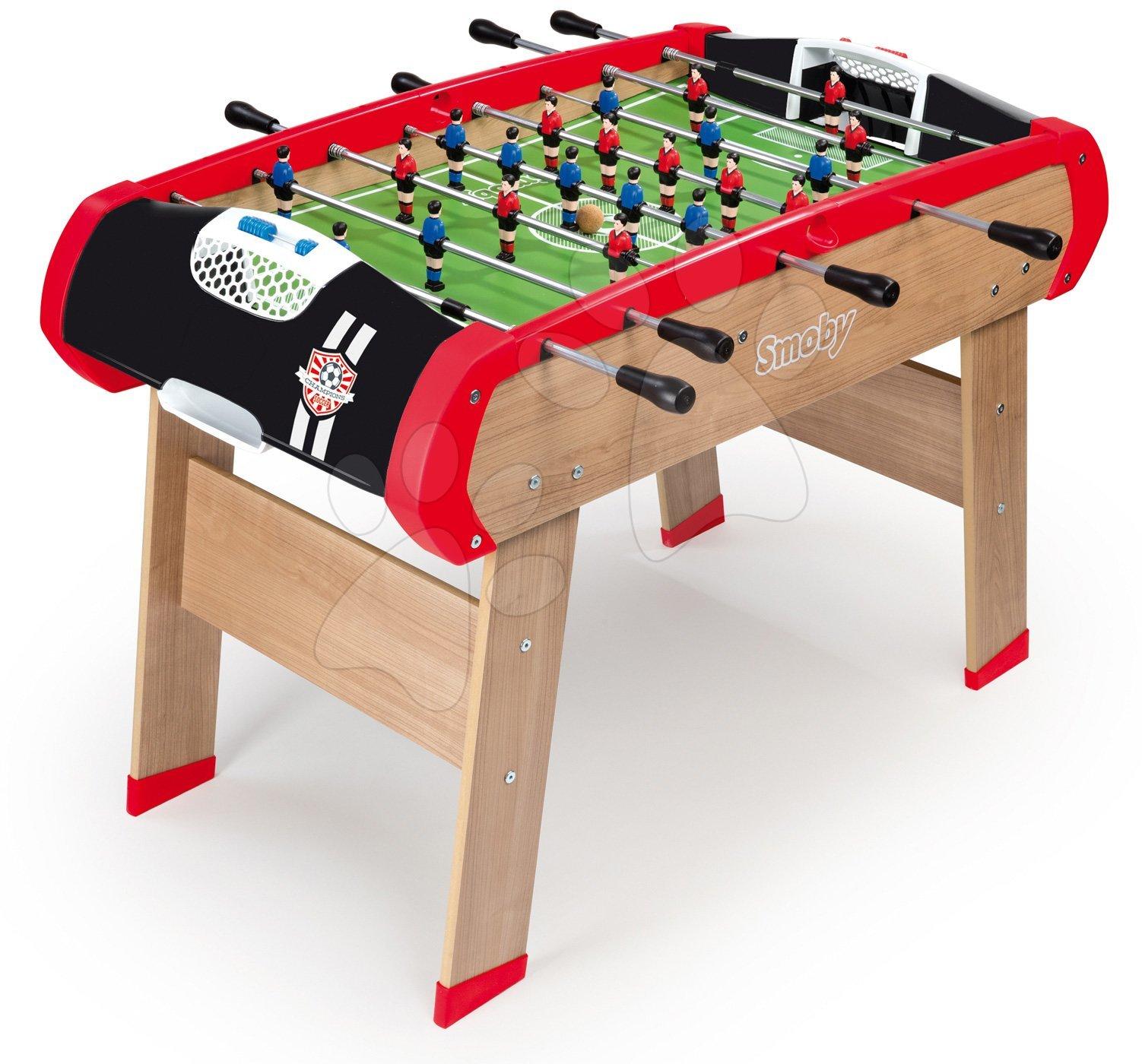 Stolný futbal - Drevený futbalový stôl BBF Champions Smoby s 2 loptičkami od 8 rokov