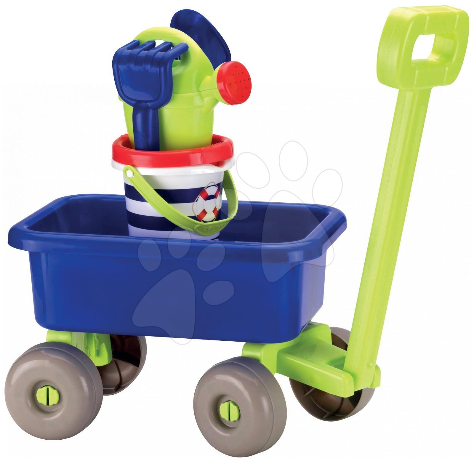 Staré položky - Vozík na tahání Námořník se setem hraček Écoiffier od 18 měsíců