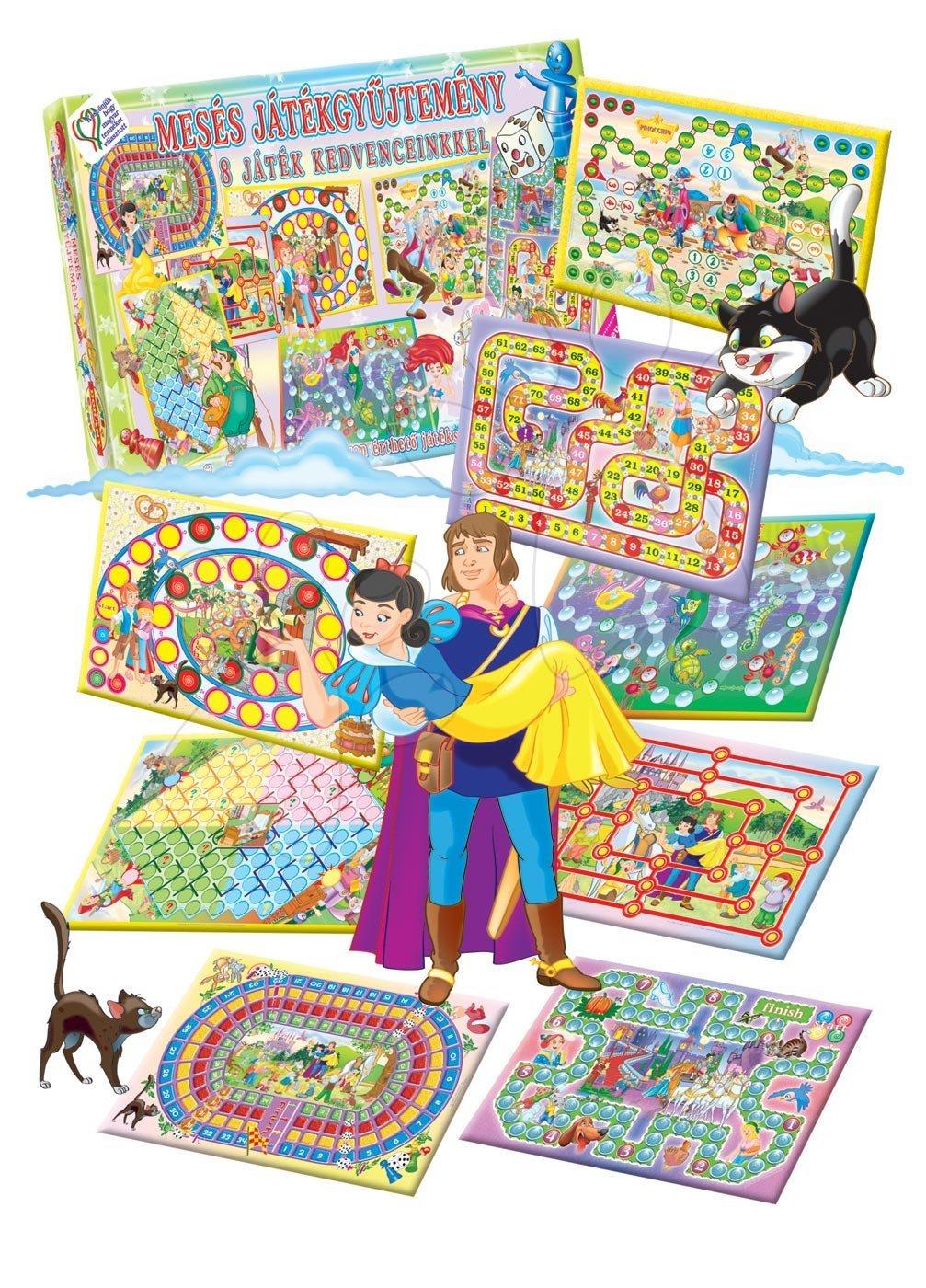 Společenské hry pro děti - Sada pohádkových společenských her Dohány Sněhurka, Červená Karkulka, Pinocchio, Malá mořská víla, Jeníček a Mařenka, Popelka od 5 let
