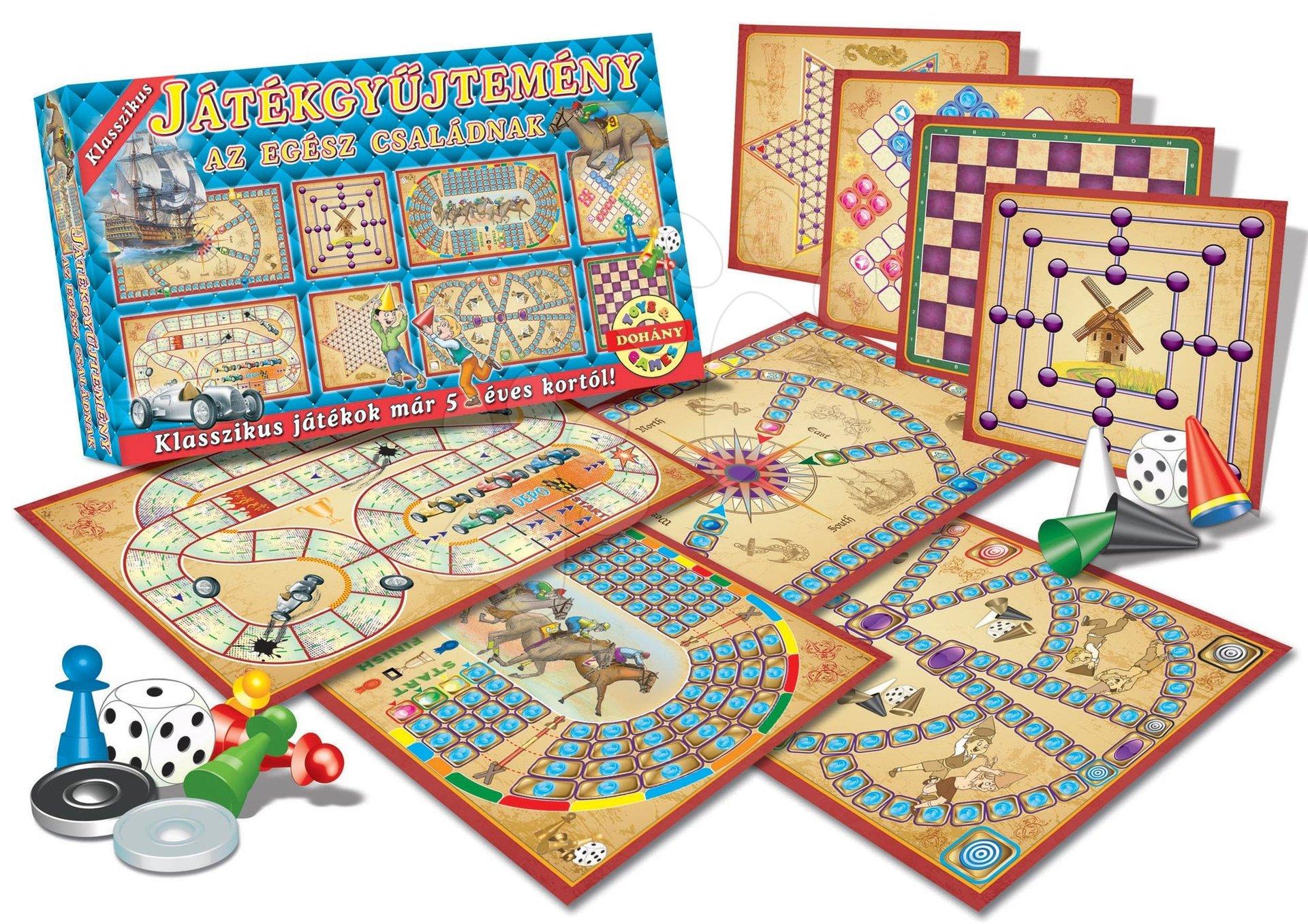 Sada klasických společenských her Dohány několik hracích desek od 5 let