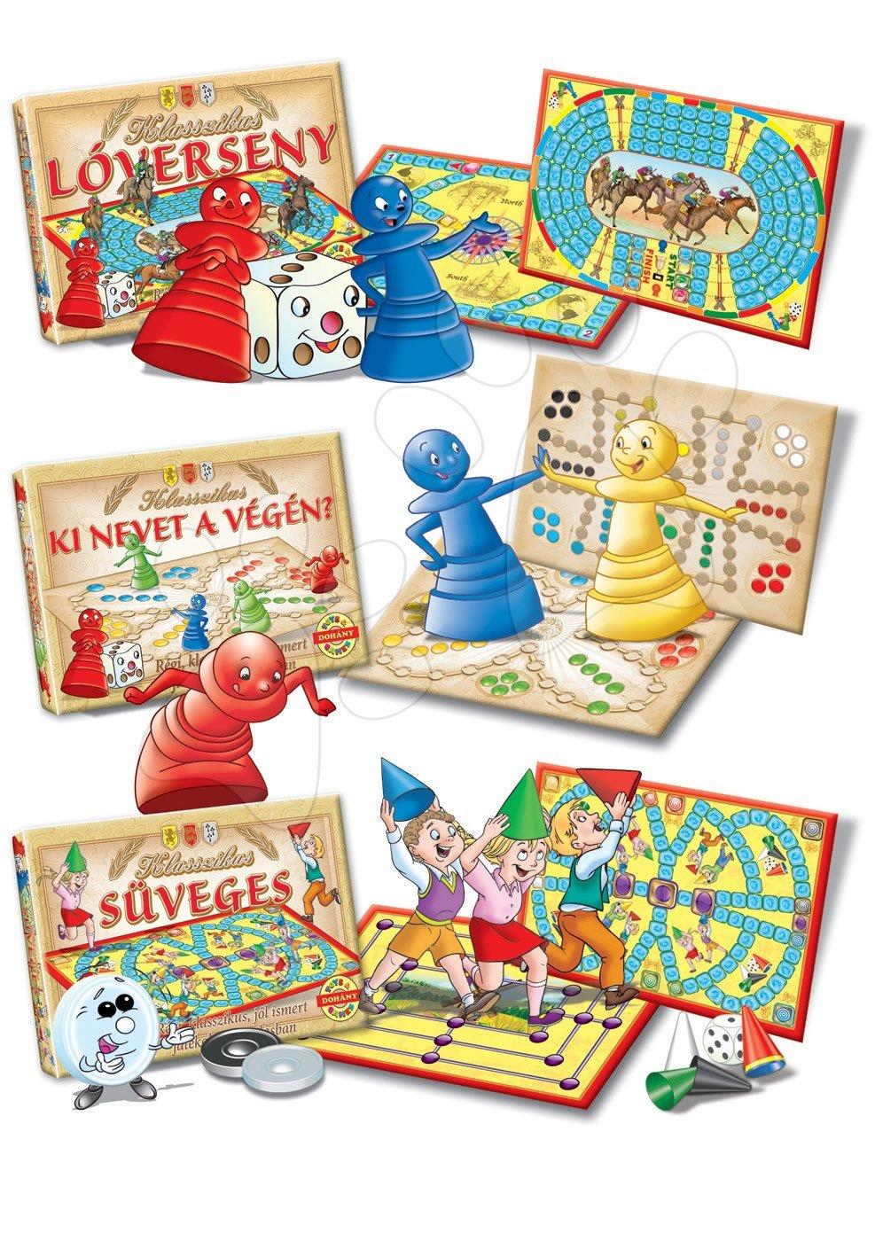 Společenské hry pro děti - Sada společenských her Classic Ludo Galopp Caps Dohány různé druhy