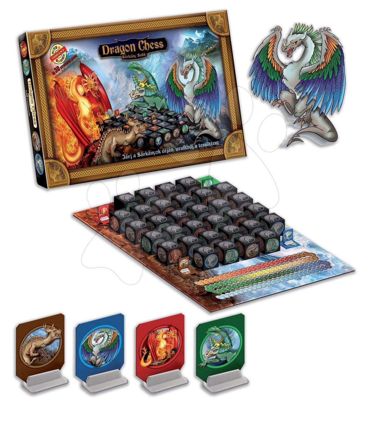 Společenské hry pro děti - Společenská hra Dračí šachy Dohány obrázky draků od 5 let